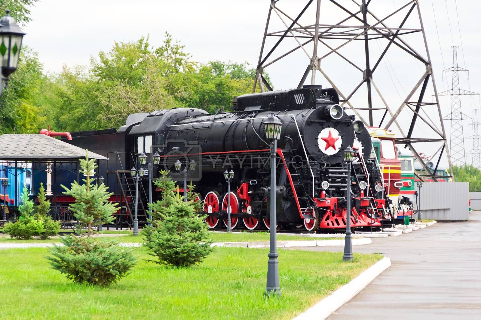 Royalty free image of Rail road locomotive by Julialine