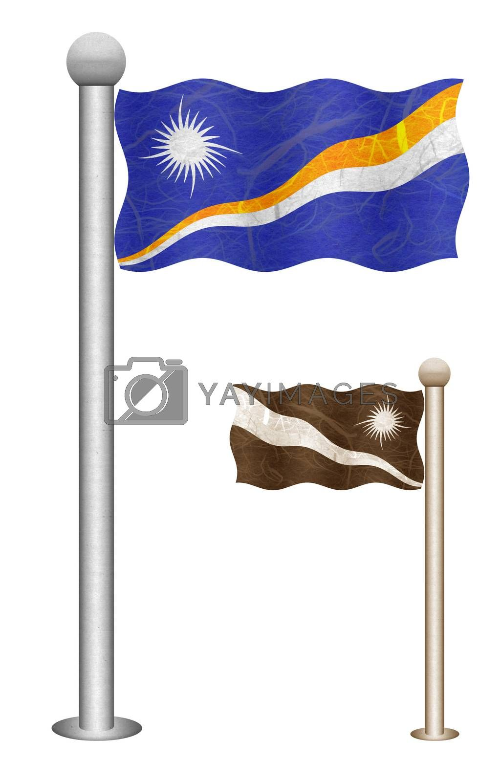 Royalty free image of Flag recycled paper  by thanarat27