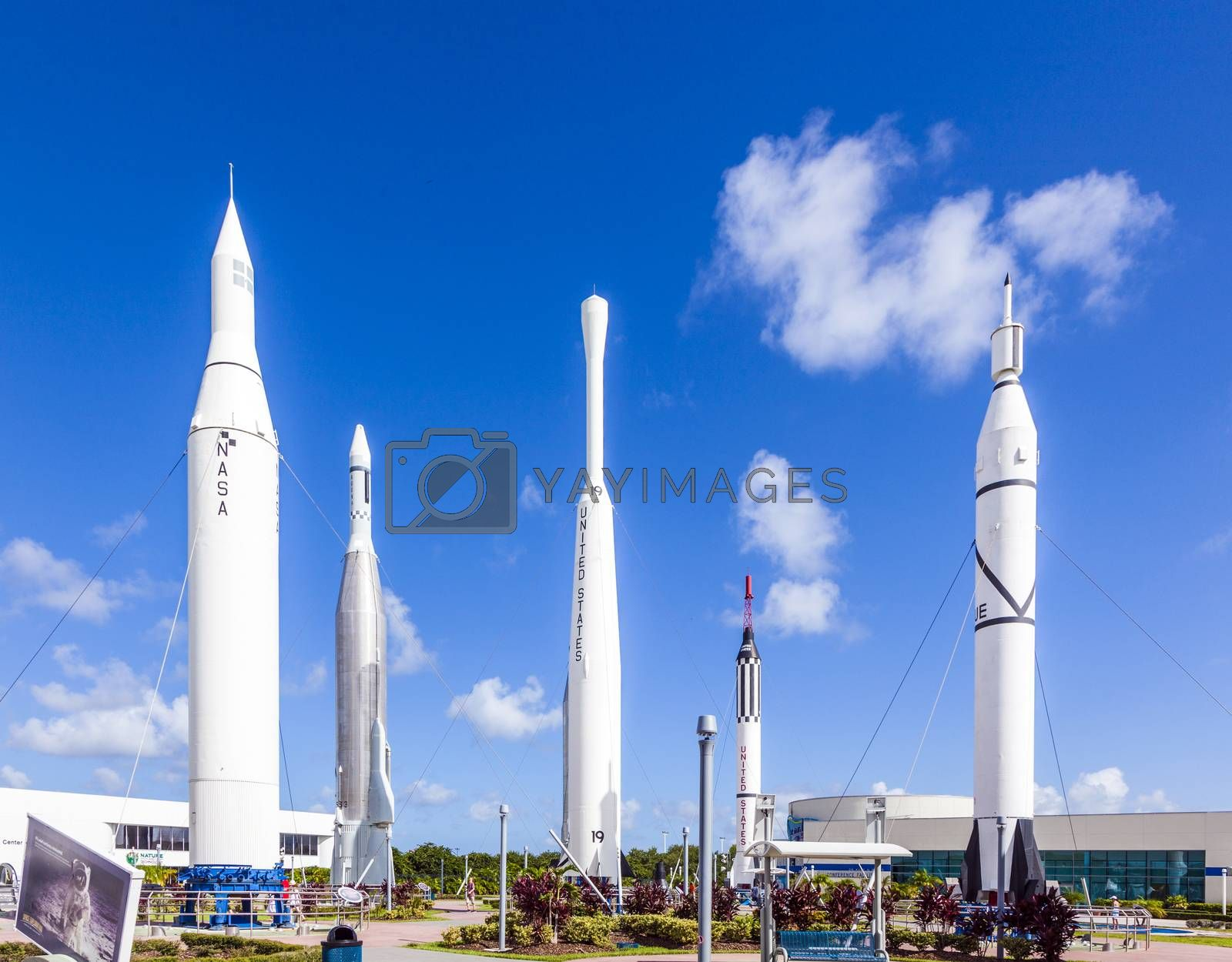 Royalty free image of Rocket Garden at Kennedy Space Center  by meinzahn