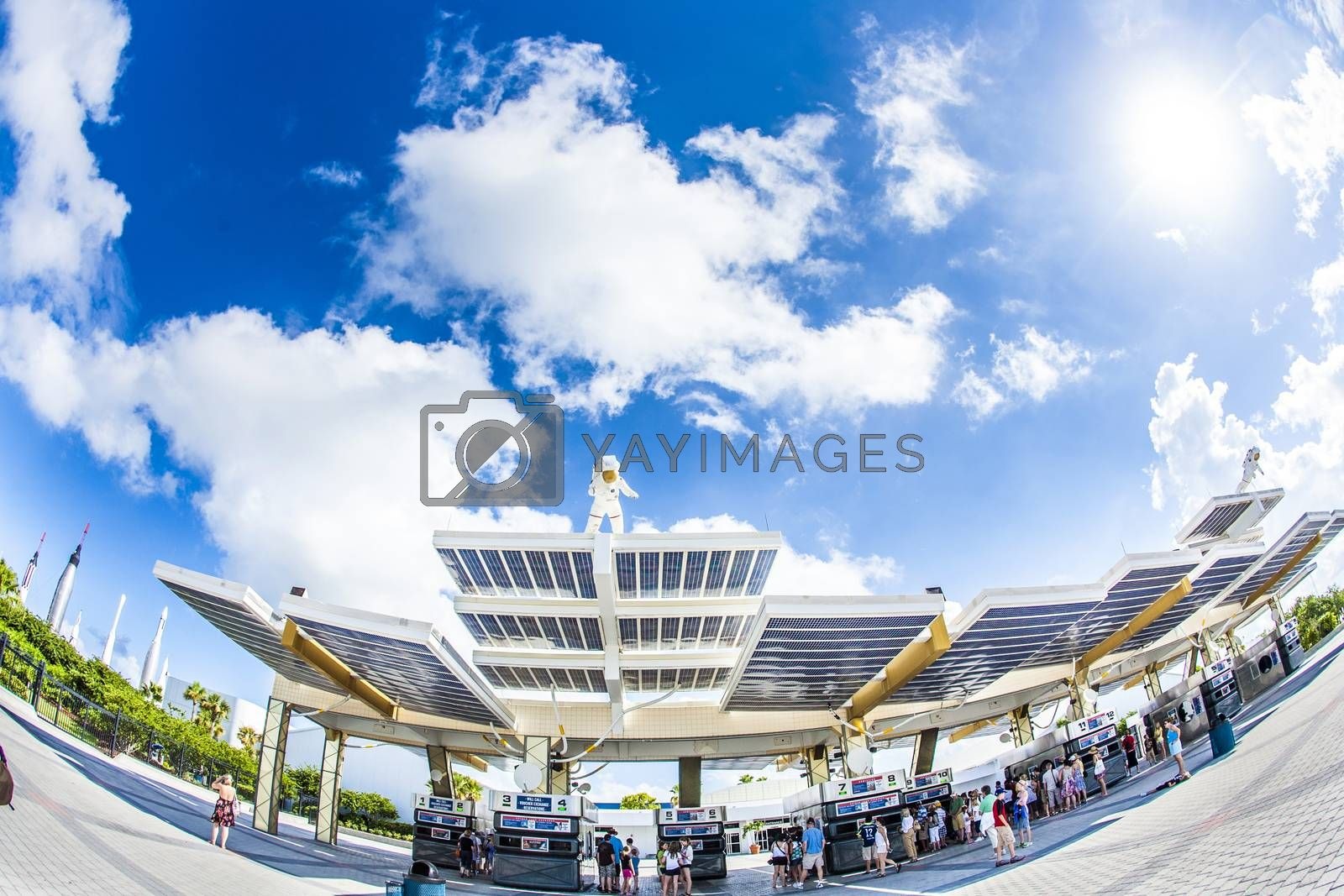 Royalty free image of entrance for Kennedy Space Center by meinzahn