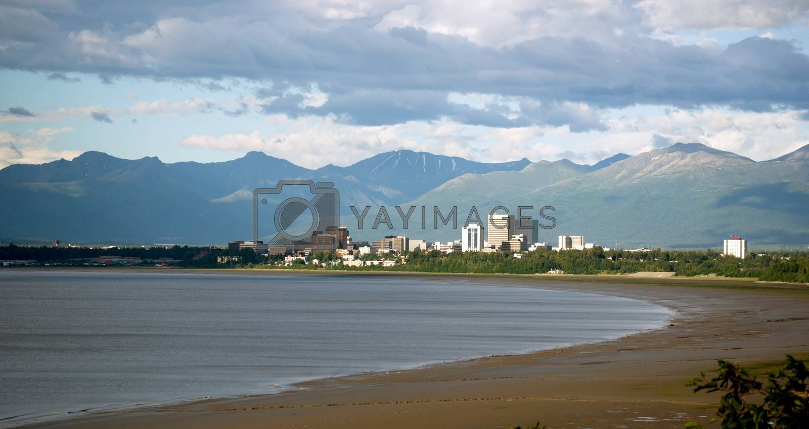 Royalty free image of Summertime Bootleggers Cove Anchorage Alaska United States North by ChrisBoswell