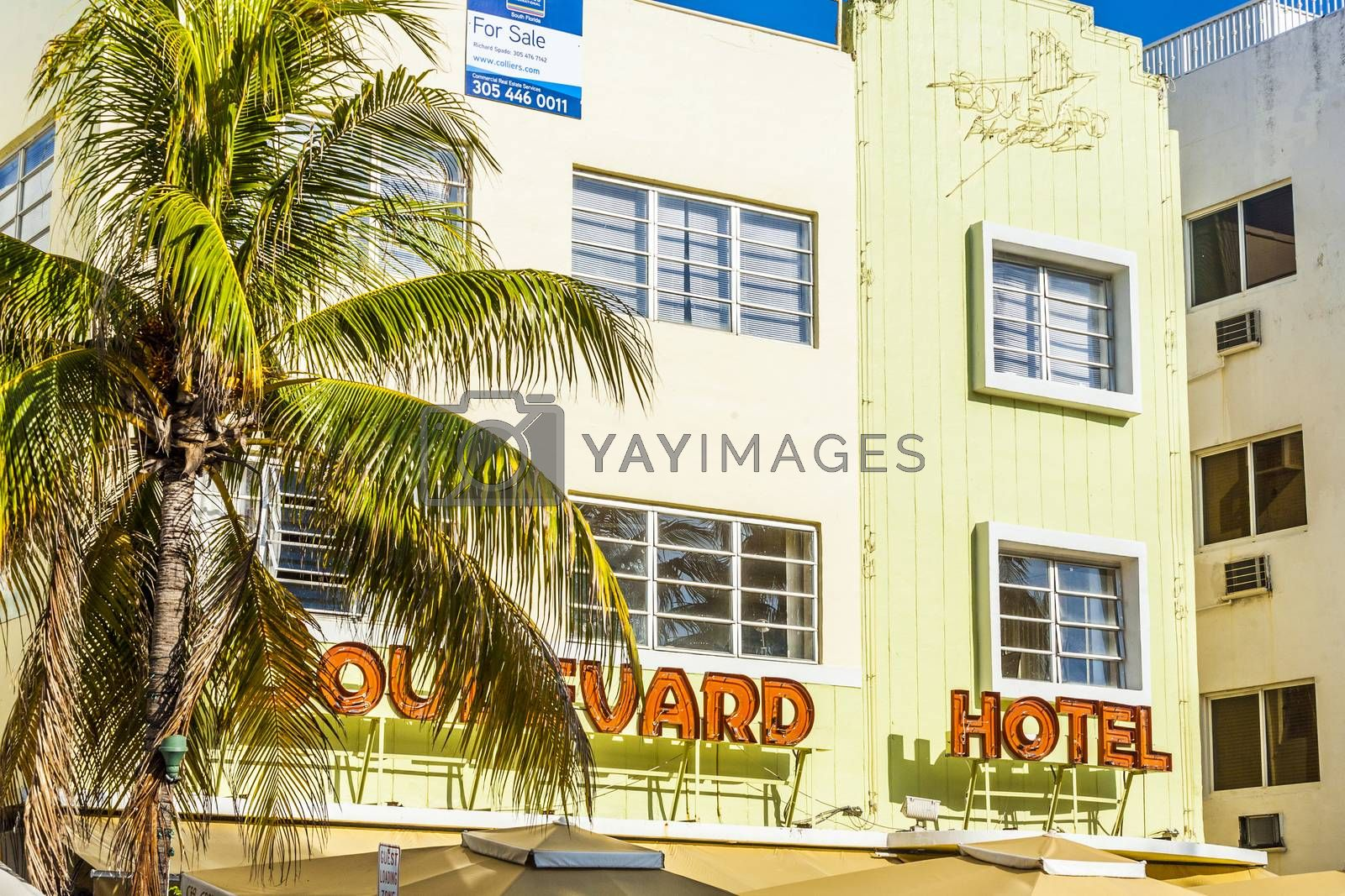 Royalty free image of Boulevard Hotel at  Ocean Drive  by meinzahn