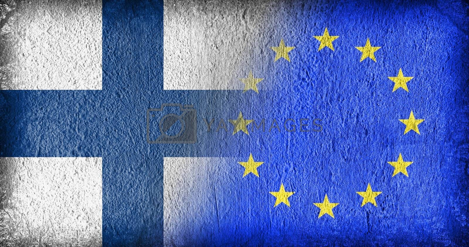 Royalty free image of Finland and the EU by michaklootwijk