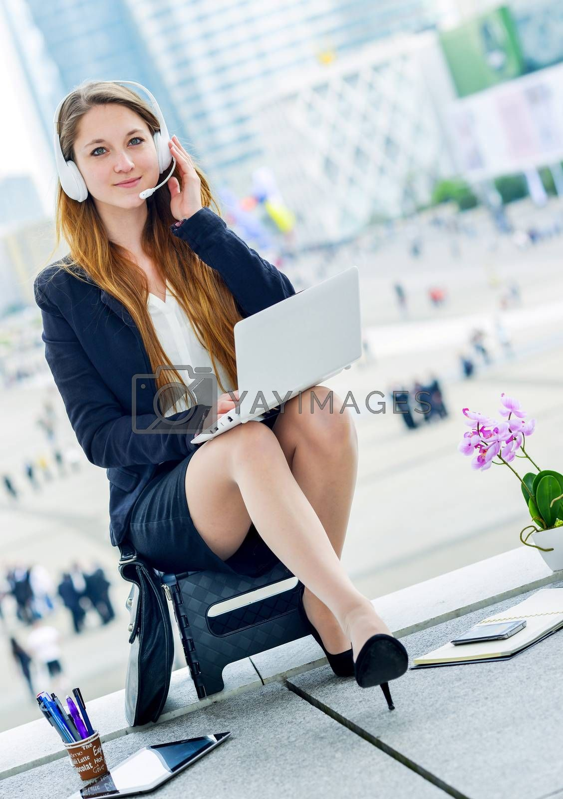 Royalty free image of Very attractive hostess business home by pixinoo