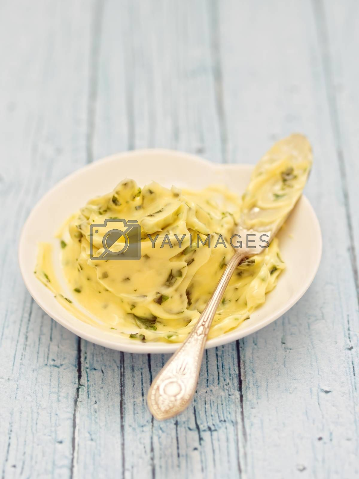 Royalty free image of rustic compound herb butter by zkruger