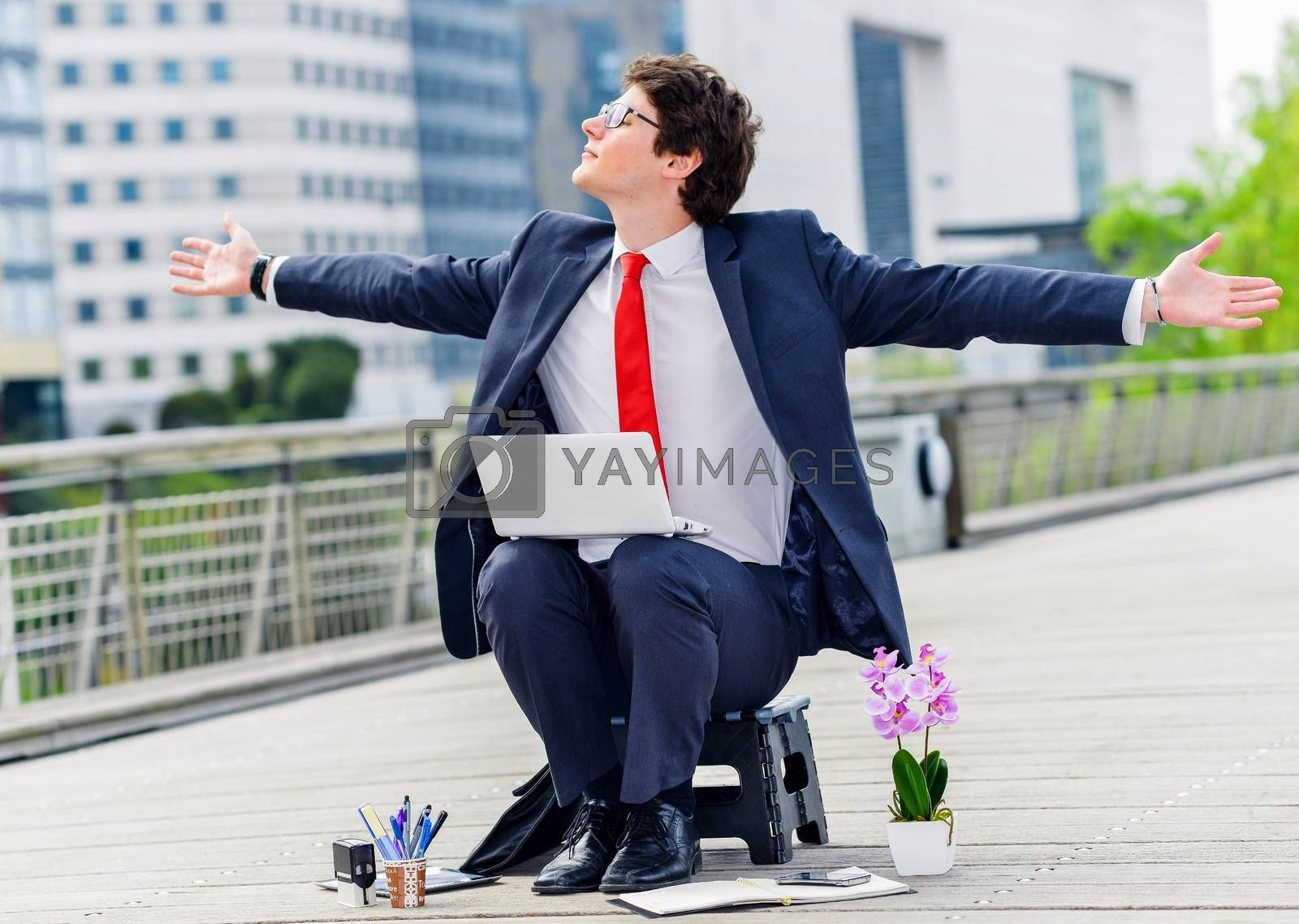 Royalty free image of Junior executive of company free of any constraint by pixinoo