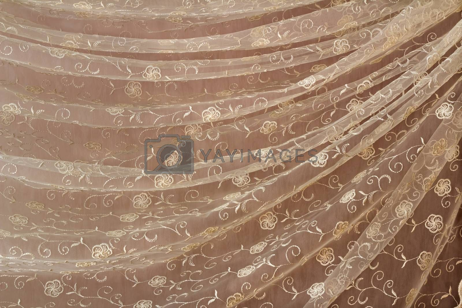 Royalty free image of The tulle which has been beautifully draped in the form of folds by georgina198