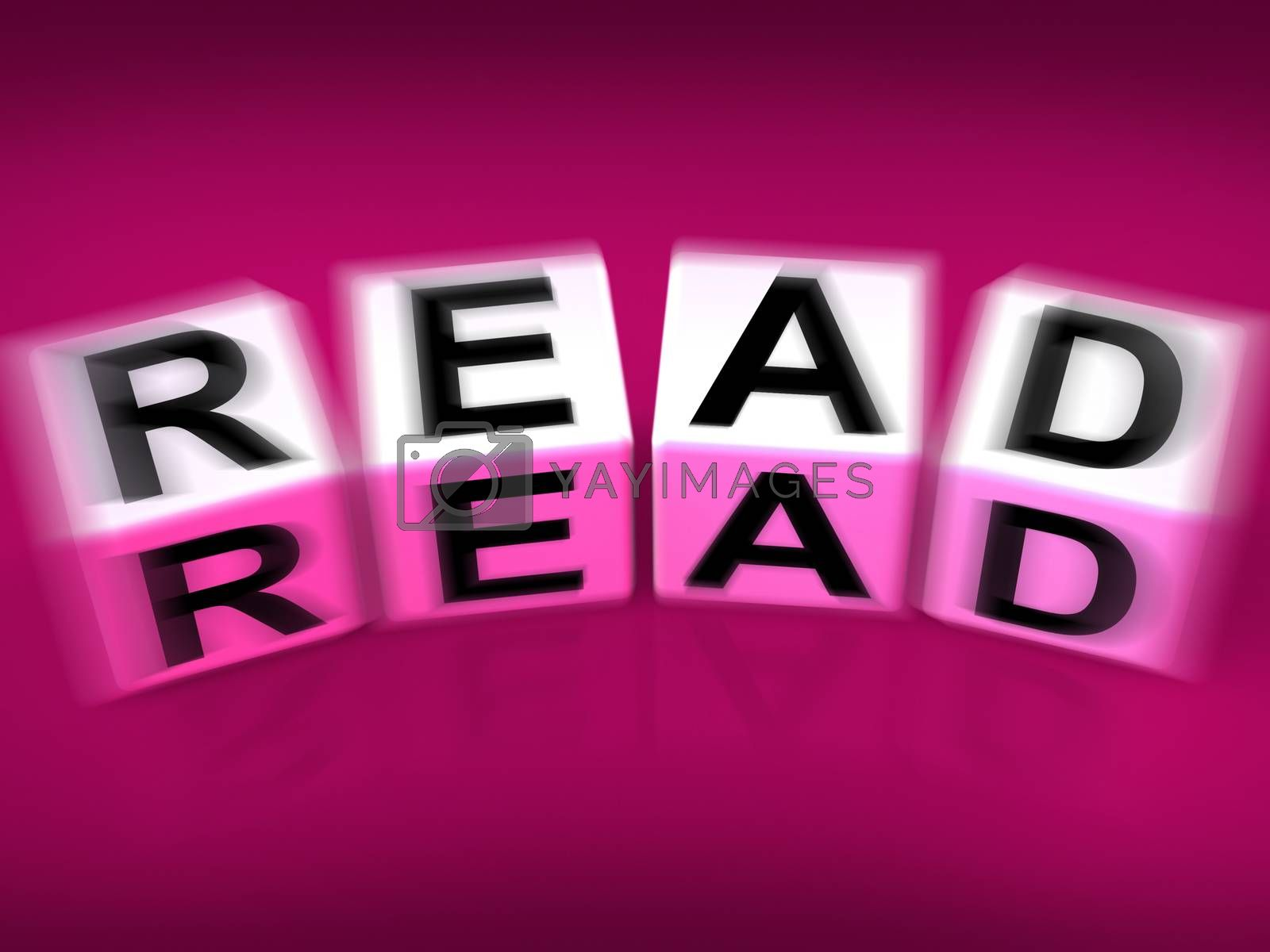 Royalty free image of Read Blocks Displays Reading Learning and Studying by stuartmiles