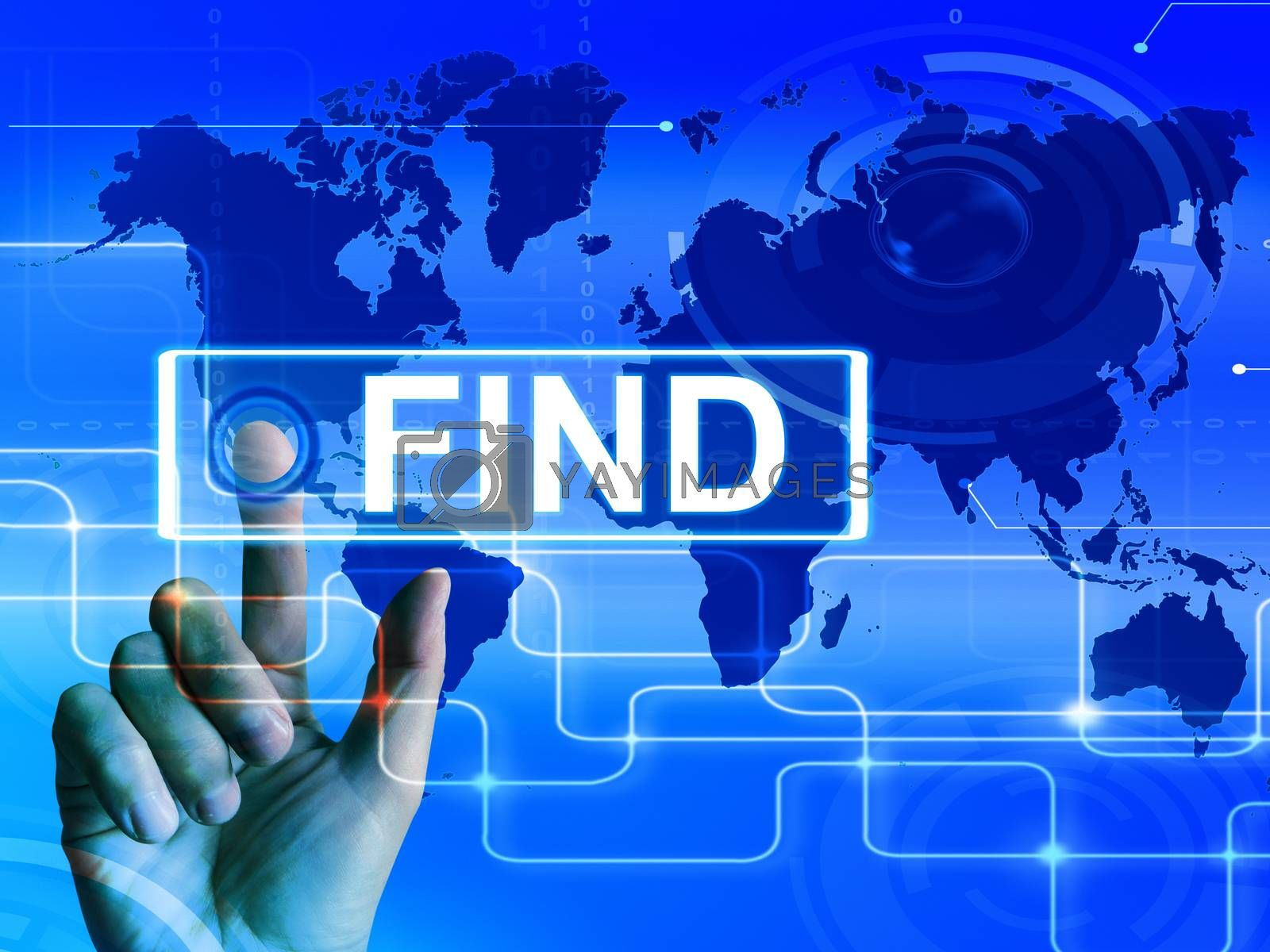 Royalty free image of Find Map Displays Internet or Online Discovery or Hunt by stuartmiles
