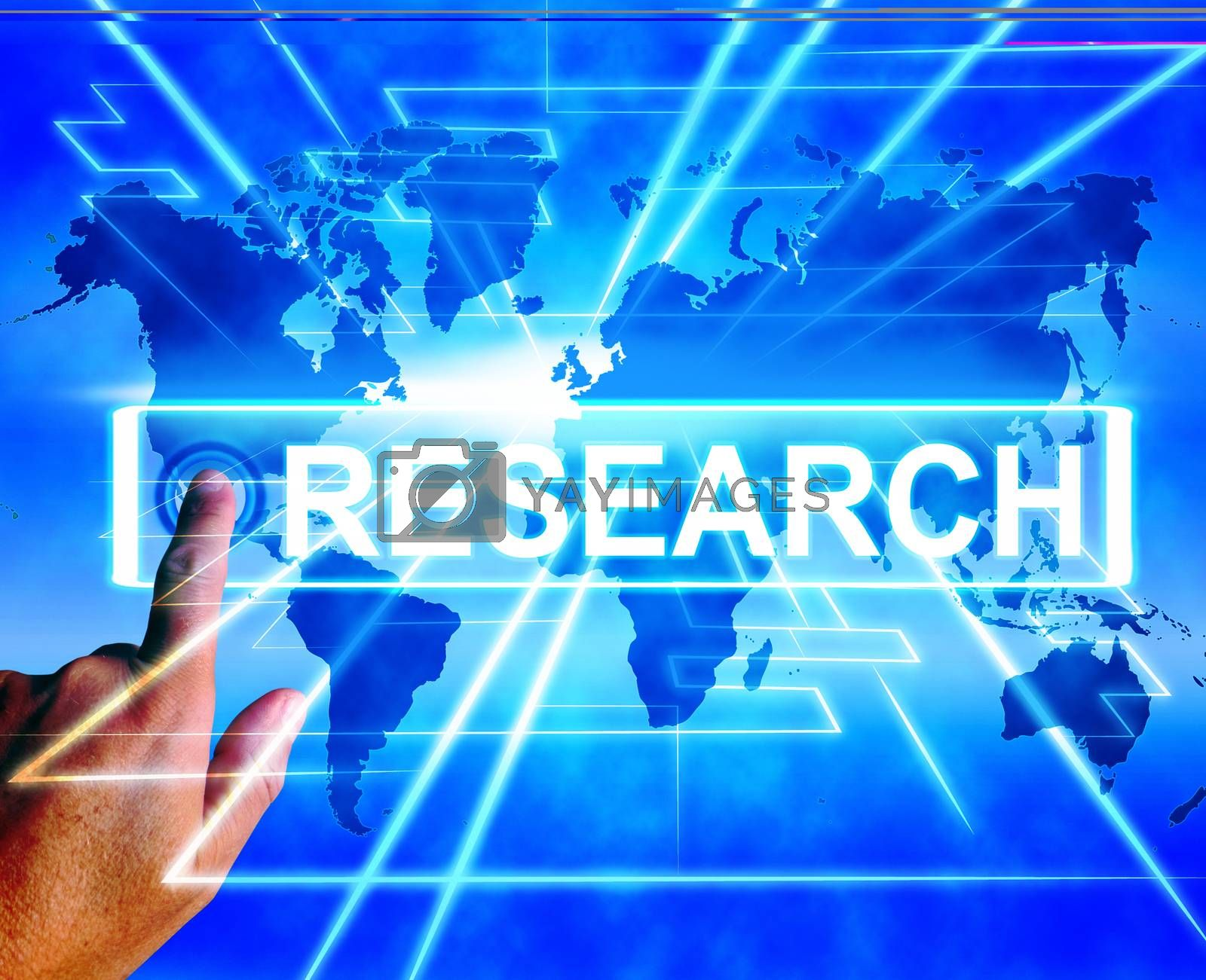 Royalty free image of Research Map Displays Internet Researcher or Researched Analyzin by stuartmiles