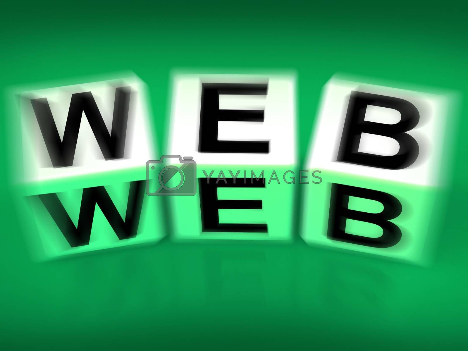 Royalty free image of Web Blocks Displays to the World Wide Web by stuartmiles