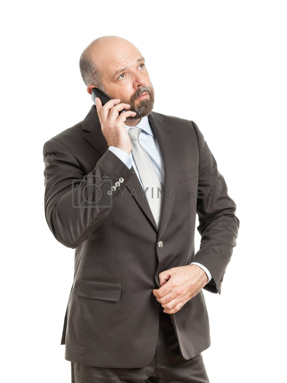 Royalty free image of business man phone by magann