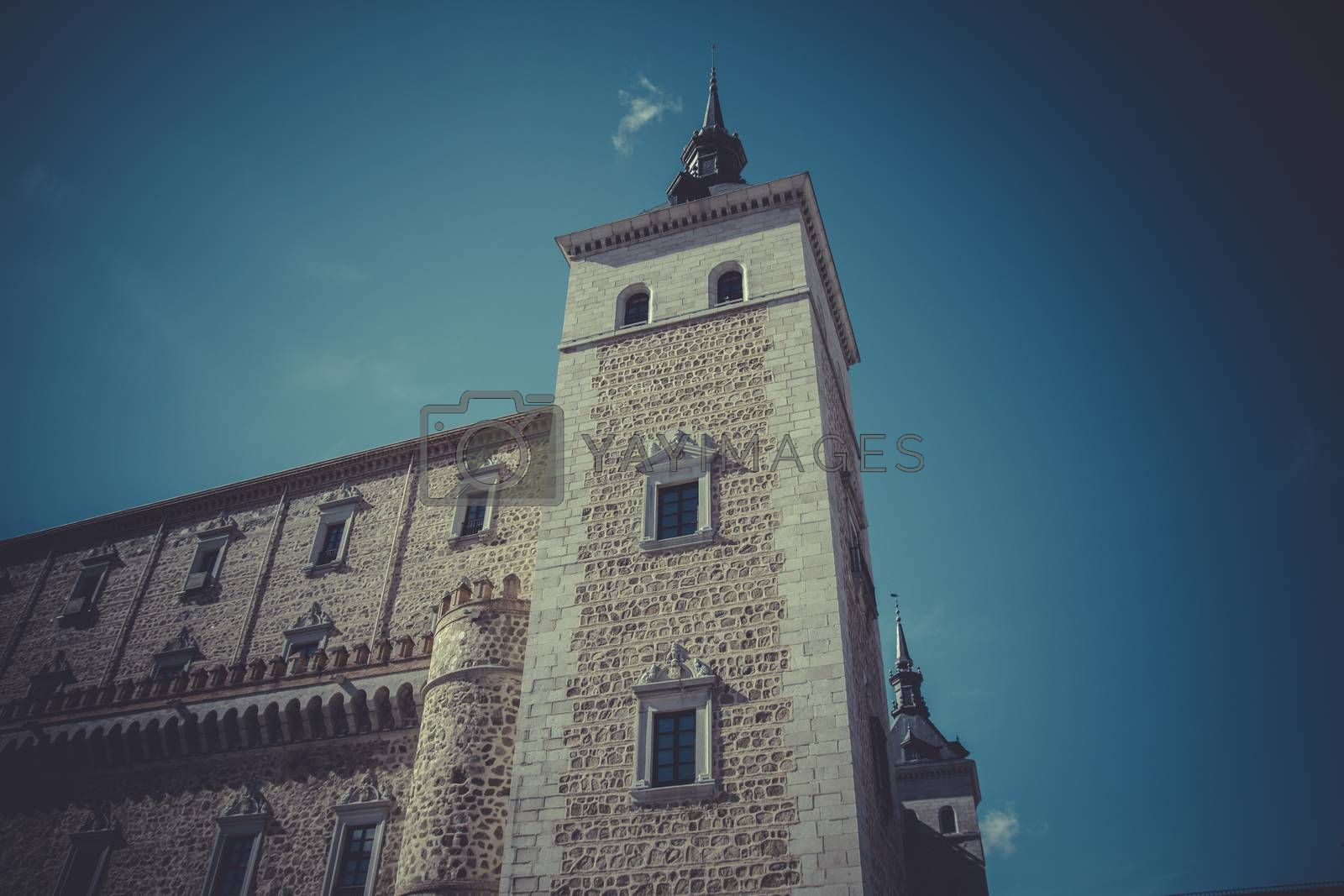 Alcazar of Toledo, military fortress destroyed during the Spanis by FernandoCortes