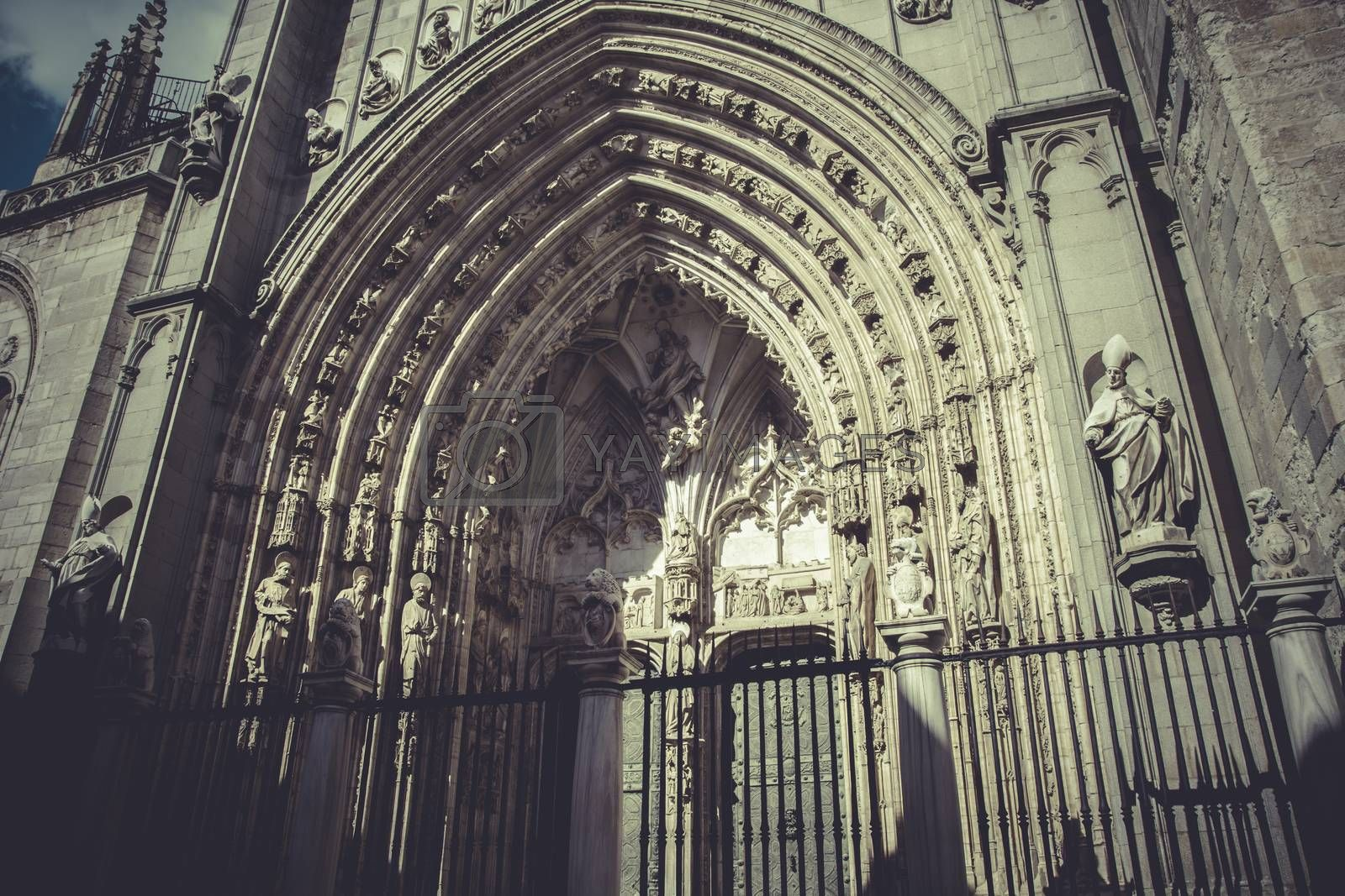 arch and door of the cathedral of Toledo, imperial city. Spain by FernandoCortes