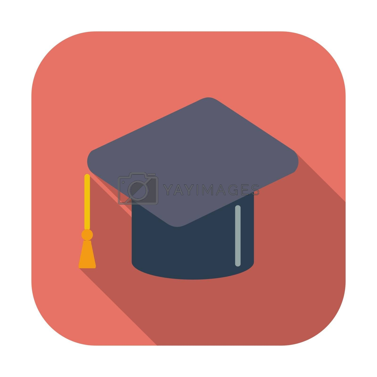 Education. Single flat color icon. Vector illustration.