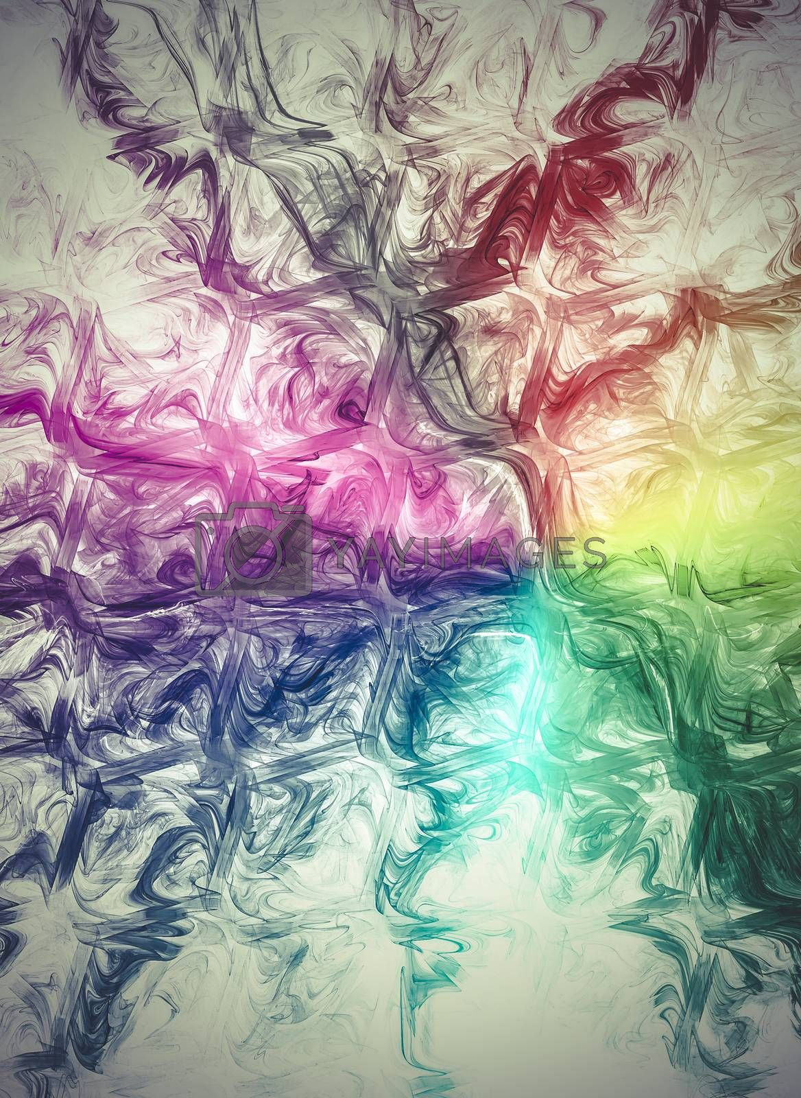 Energy, Creative design background, fractal styles with color de by FernandoCortes