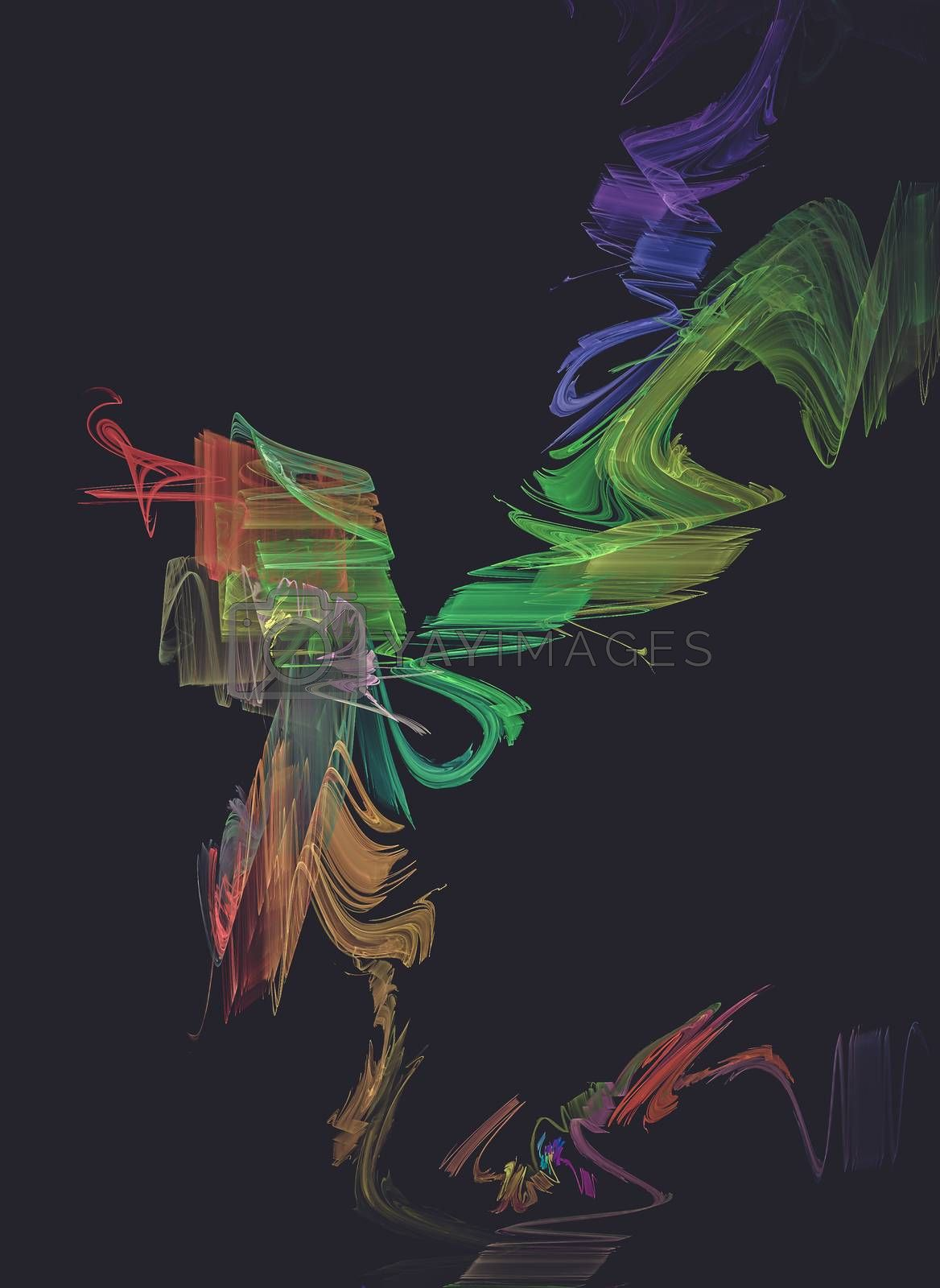 Technology, Creative design background, fractal styles with color design
