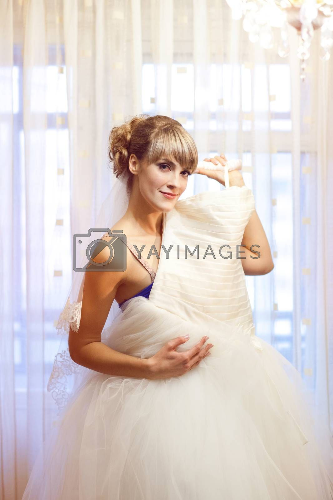 girl with wedding dress