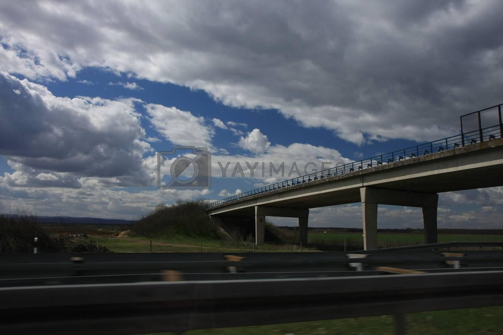Taken from car on the highway Belgrade-Zagreb