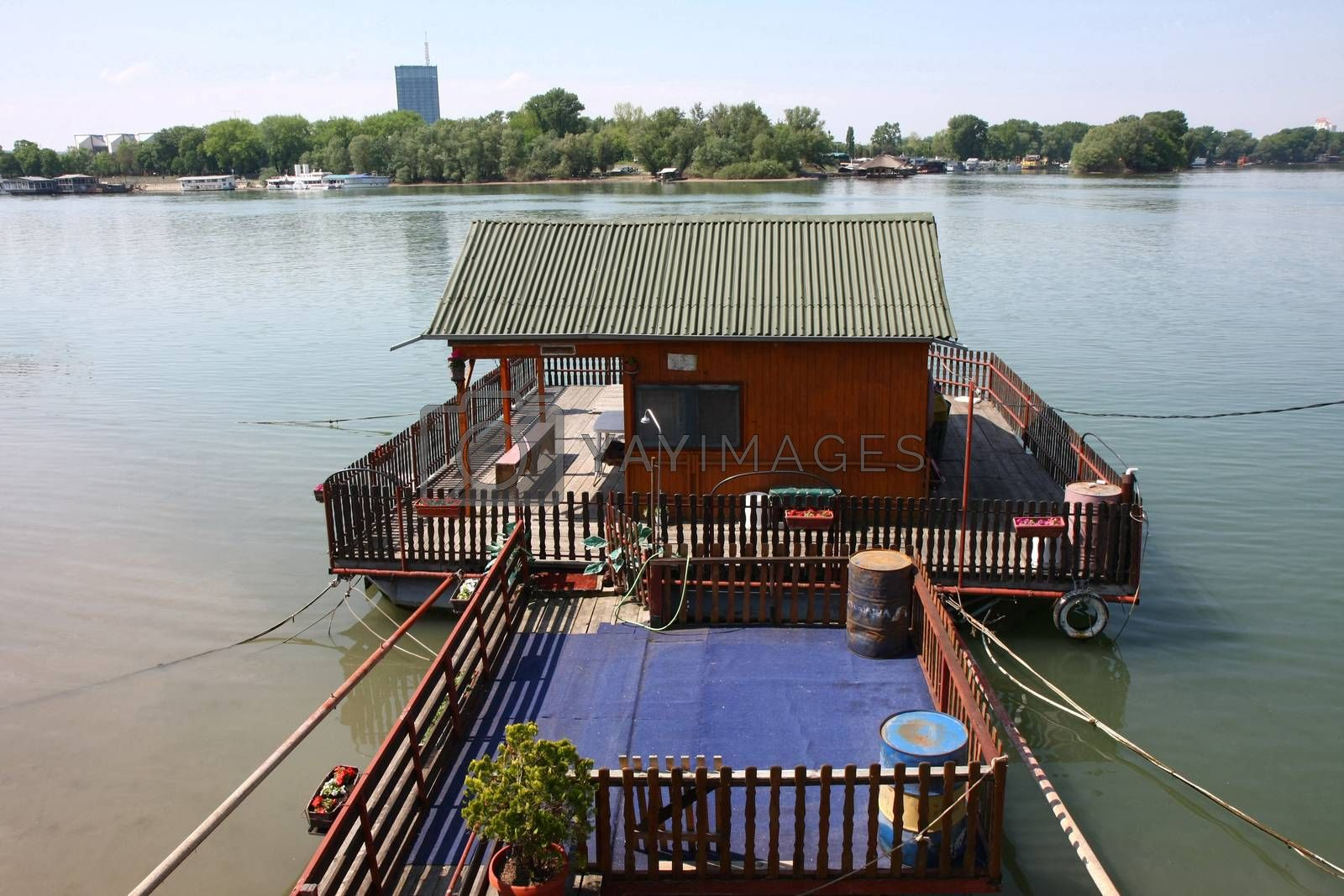 Cottage on the confluence of Sava river to Danube in Belgrade,Serbia