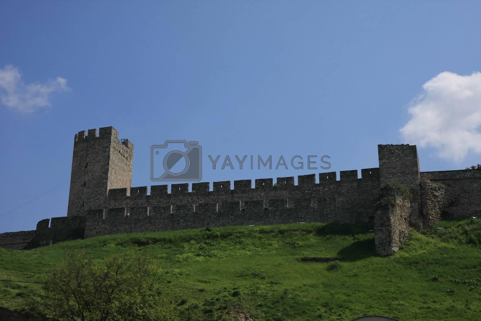 Part of Belgrade fortress Kalemegdan in Serbia