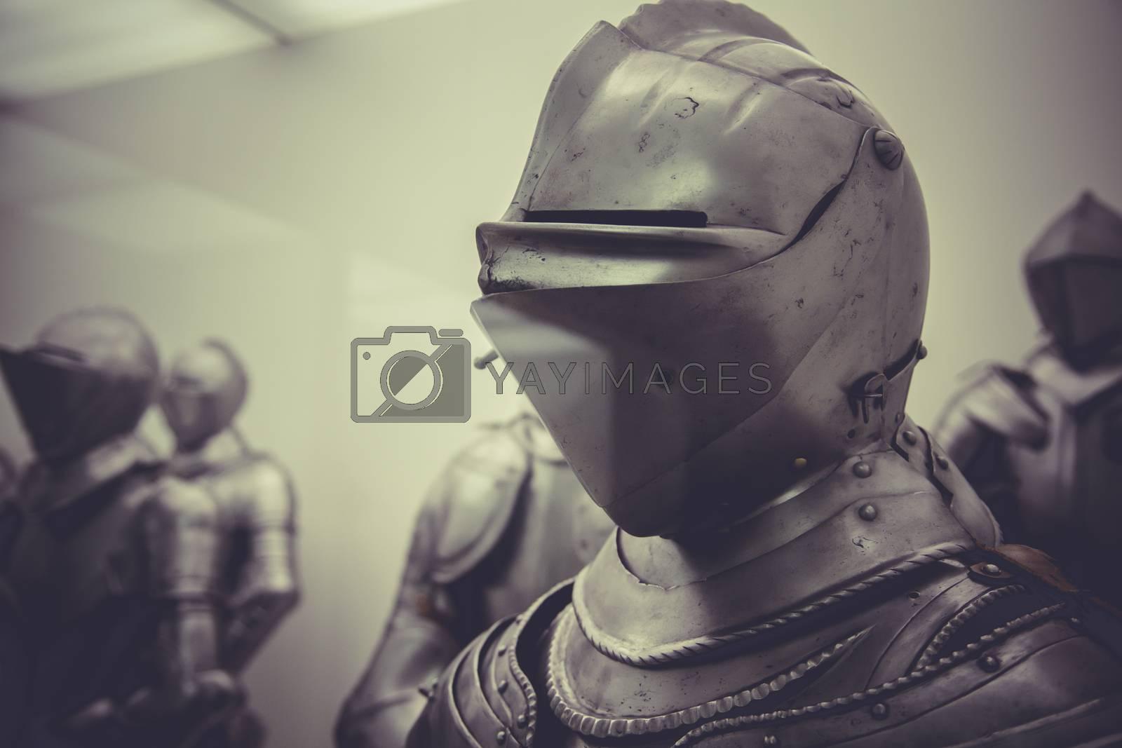 Helmet, Medieval iron armor, Spanish armada