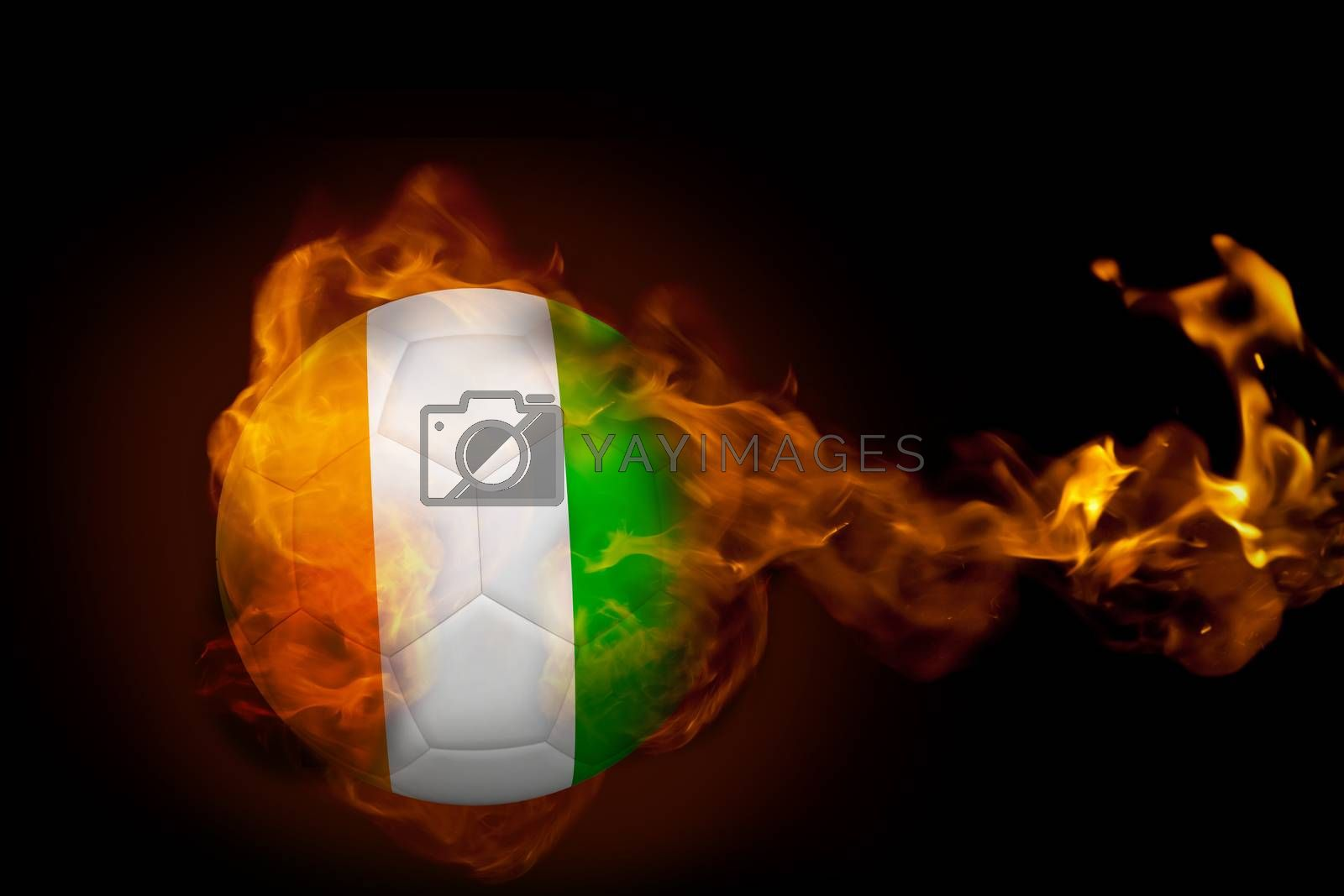 Fire surrounding ivory coast ball by Wavebreakmedia
