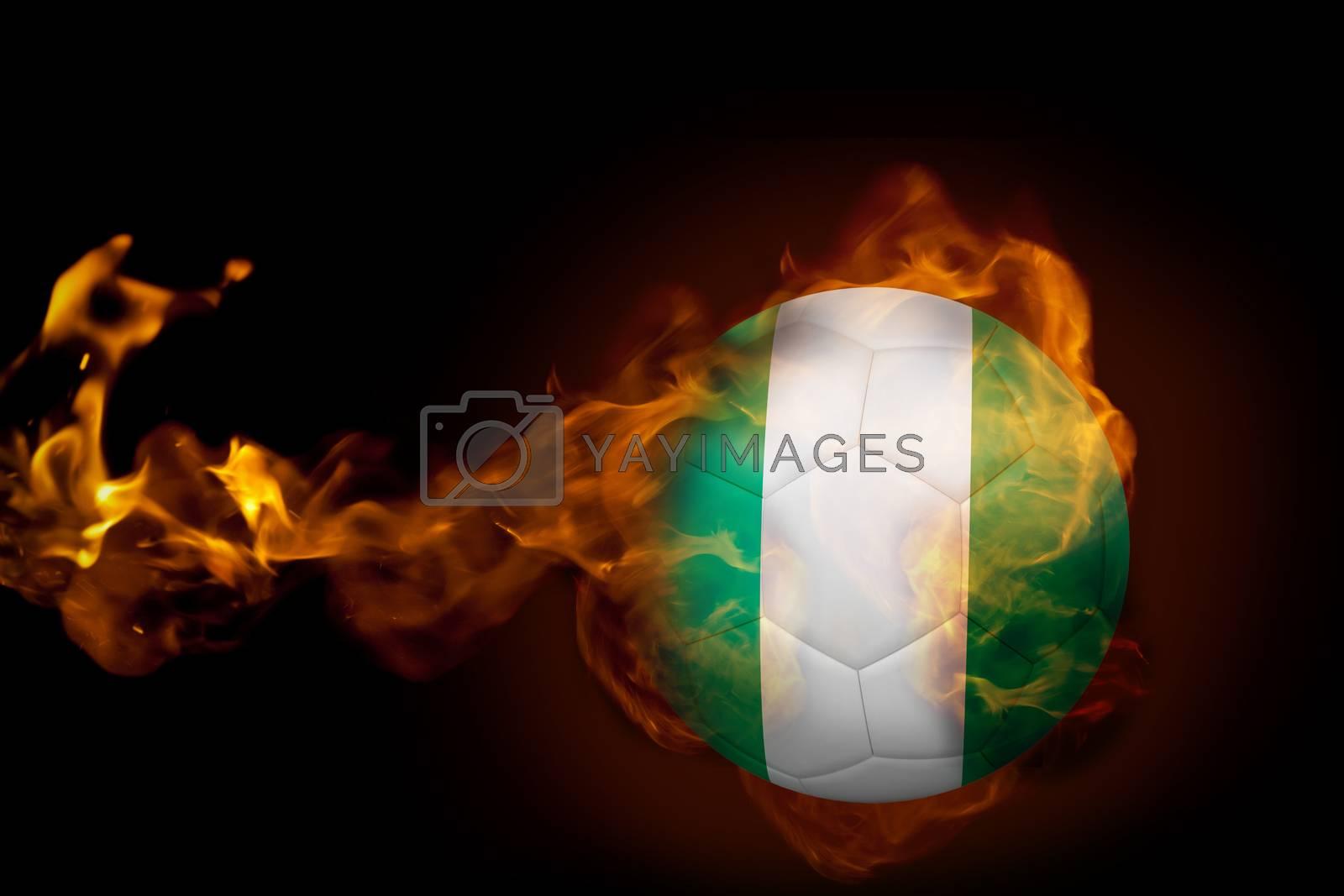 Fire surrounding nigeria ball by Wavebreakmedia