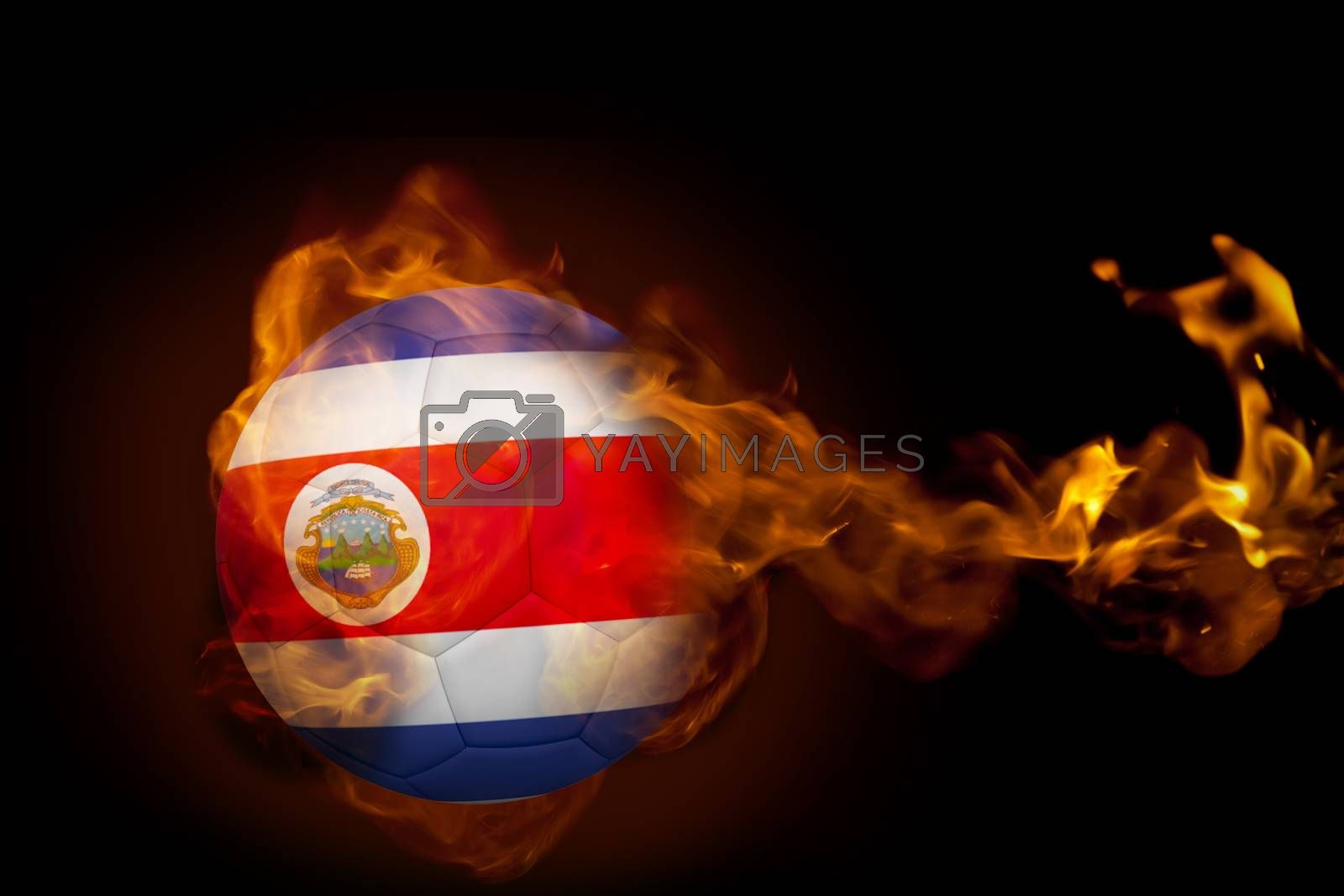 Fire surrounding costa rica ball by Wavebreakmedia