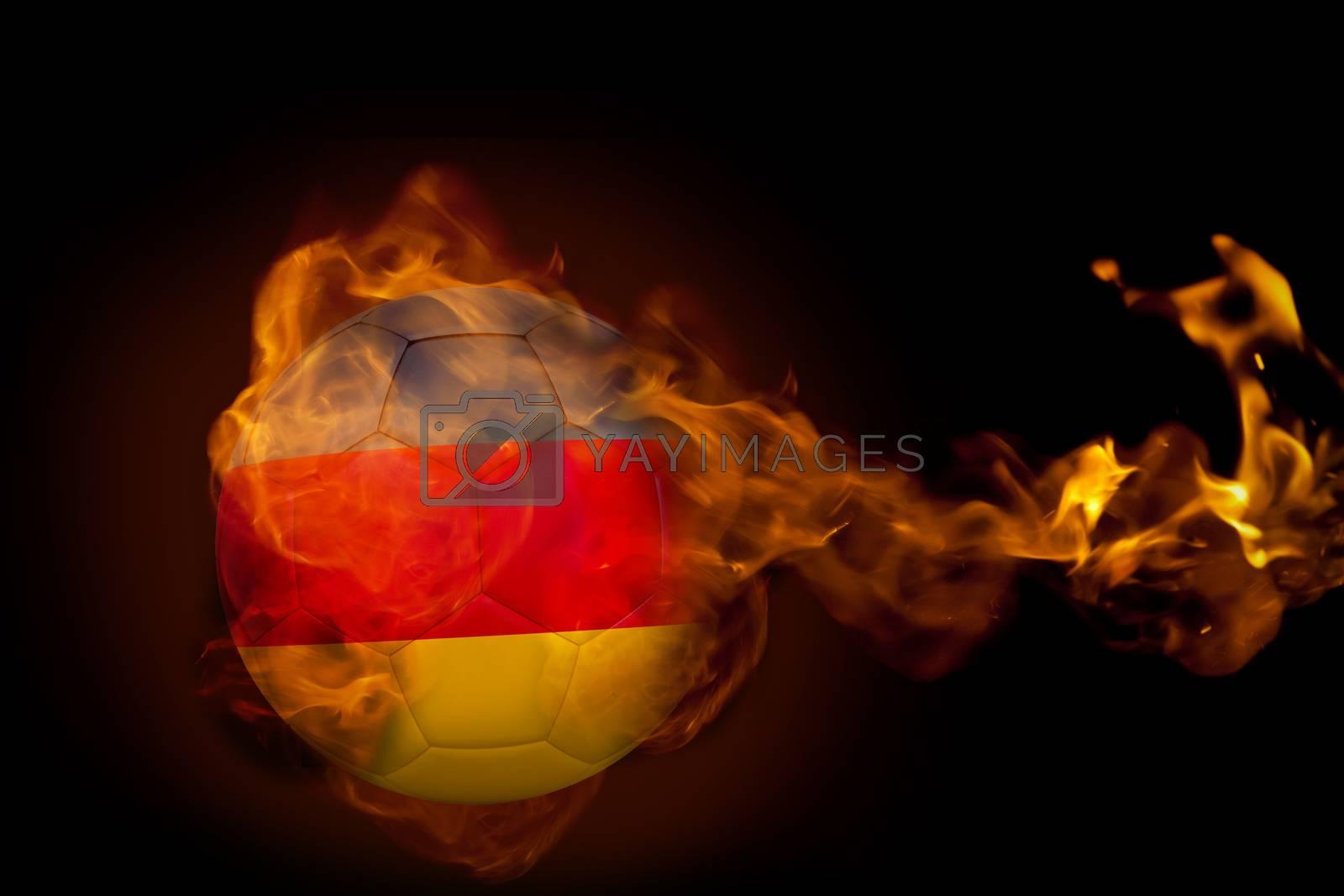 Fire surrounding germany ball by Wavebreakmedia