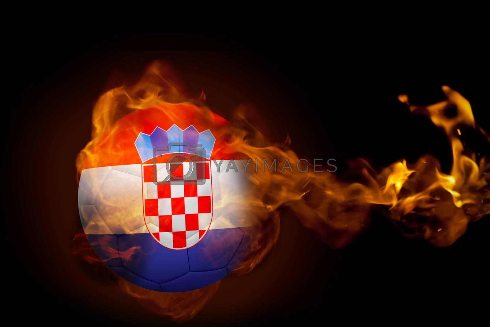 Fire surrounding croatia ball by Wavebreakmedia