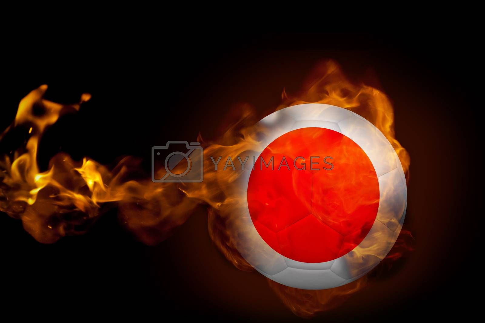 Fire surrounding japan ball by Wavebreakmedia