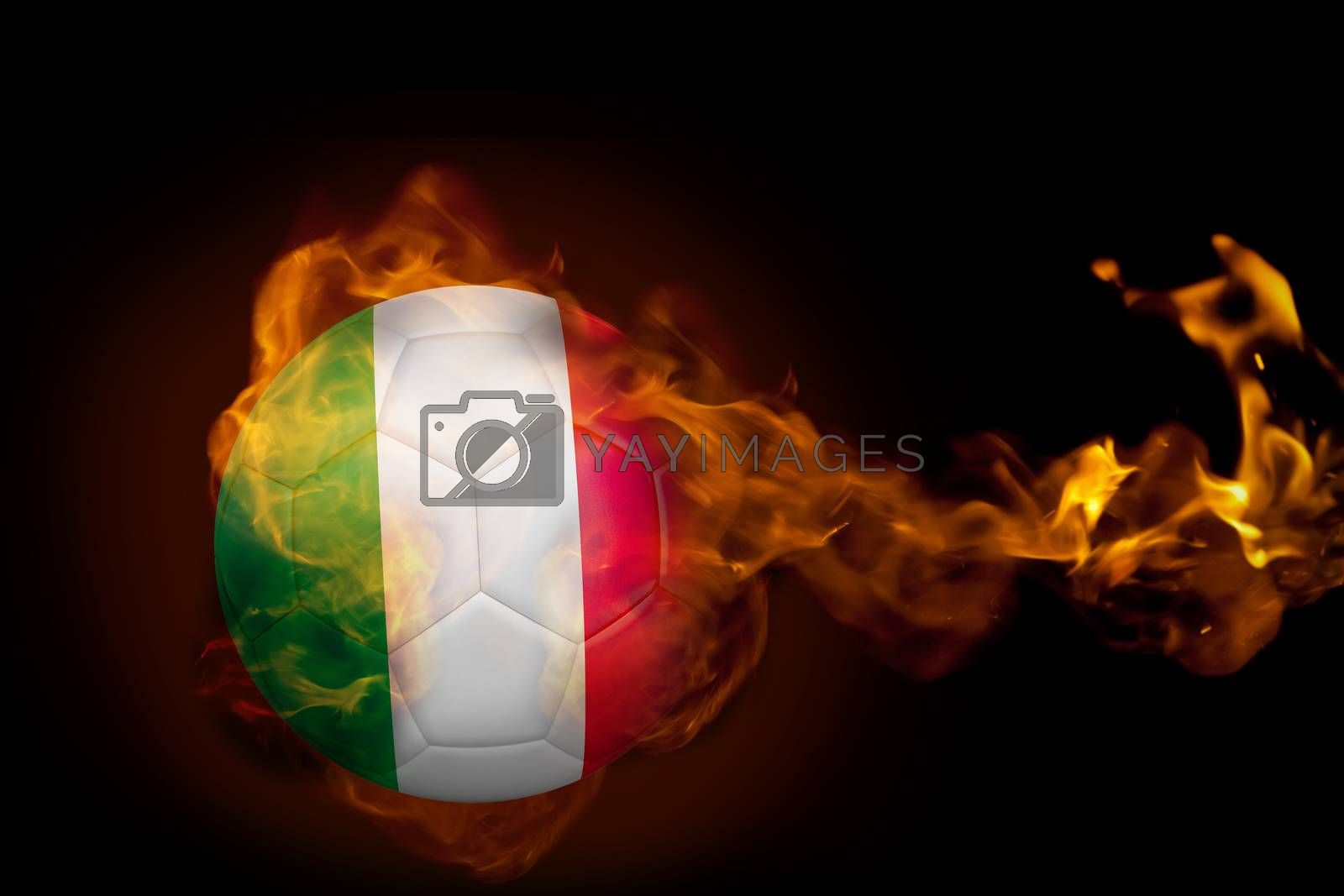 Fire surrounding italy ball by Wavebreakmedia