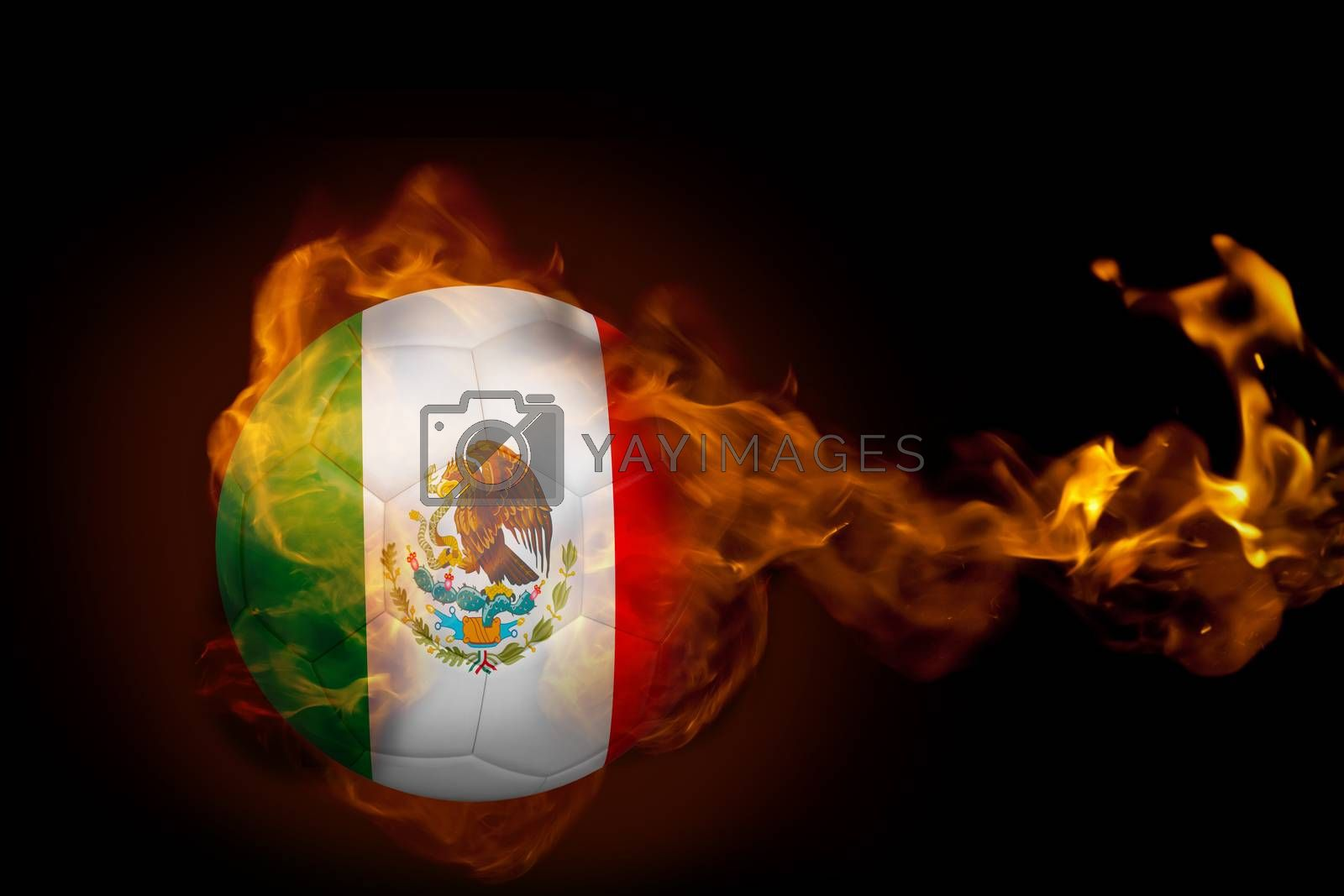 Fire surrounding mexico ball by Wavebreakmedia