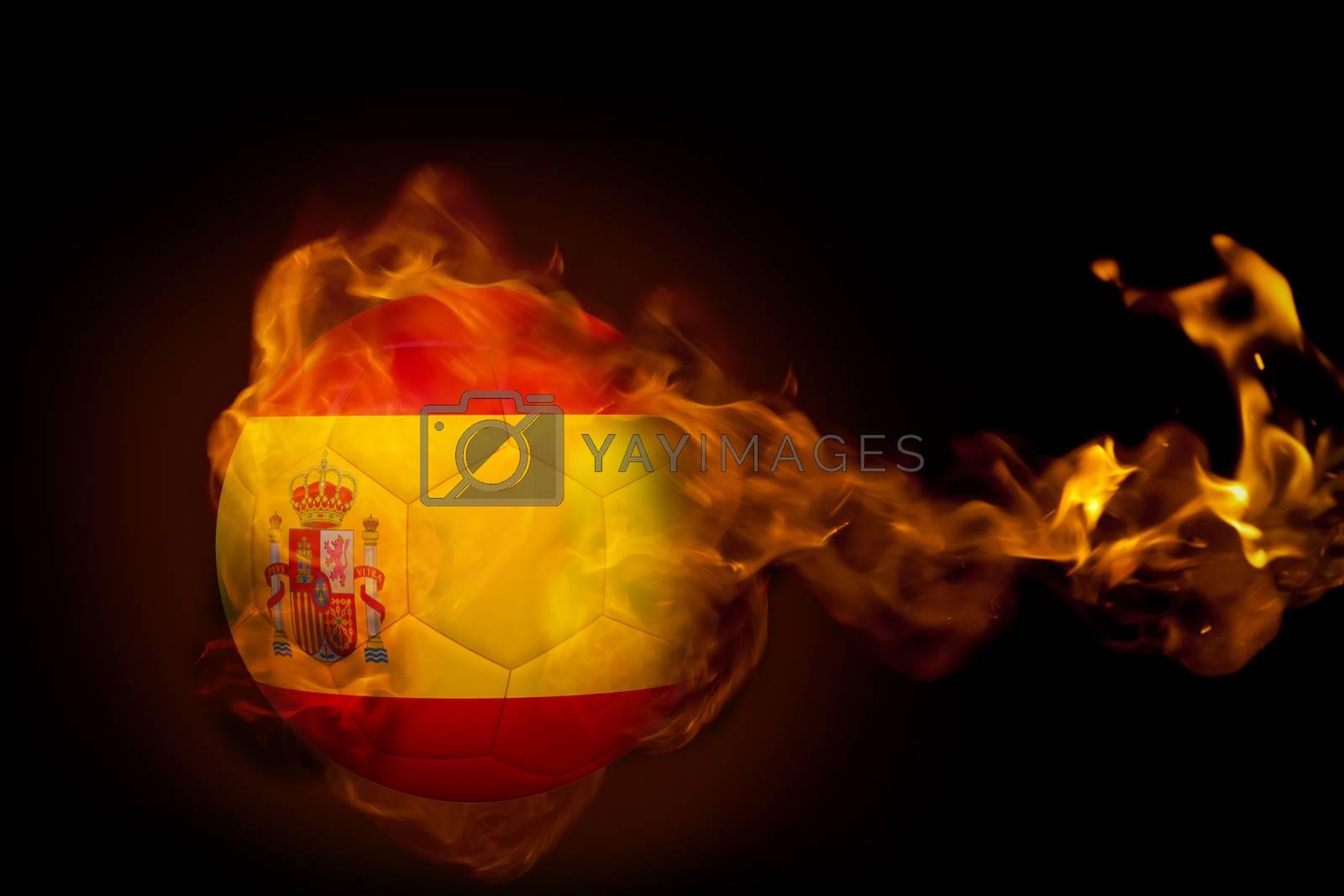 Fire surrounding spain ball by Wavebreakmedia