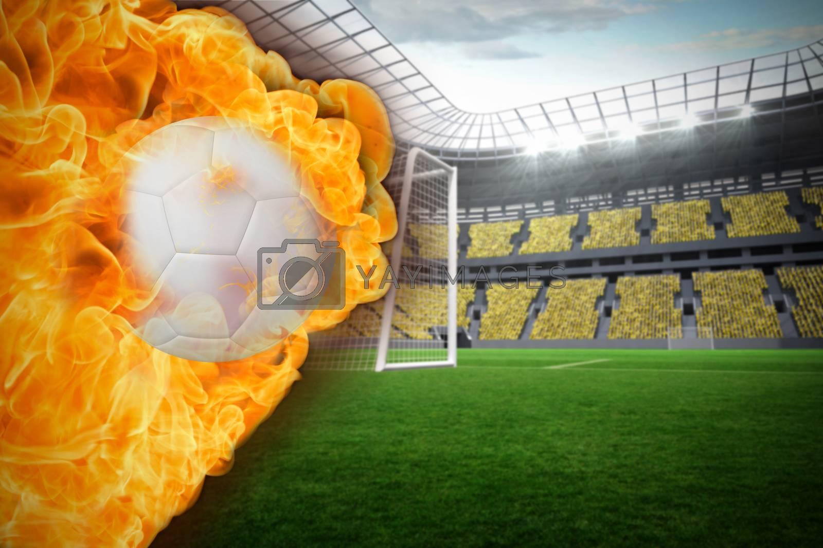 Fire surrounding football by Wavebreakmedia