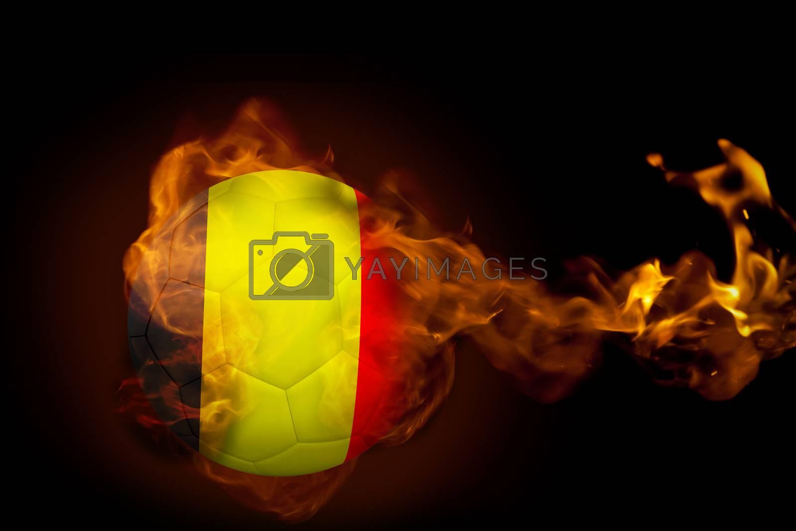 Fire surrounding belgium ball by Wavebreakmedia