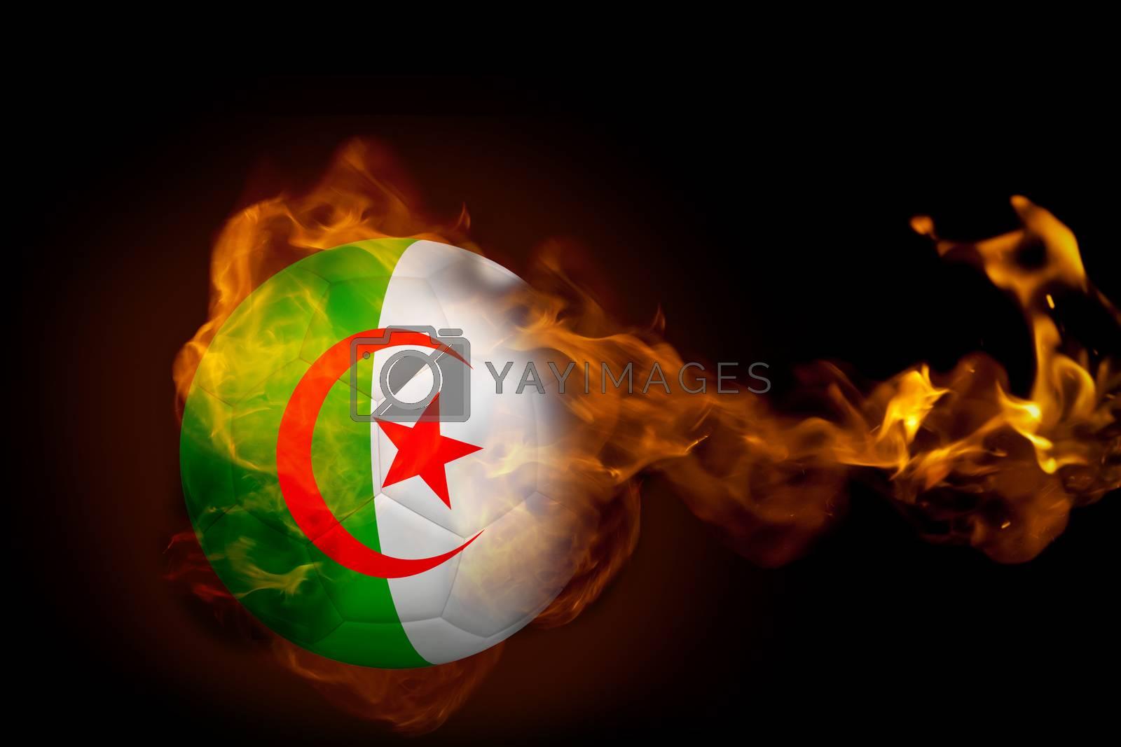 Fire surrounding algeria ball by Wavebreakmedia