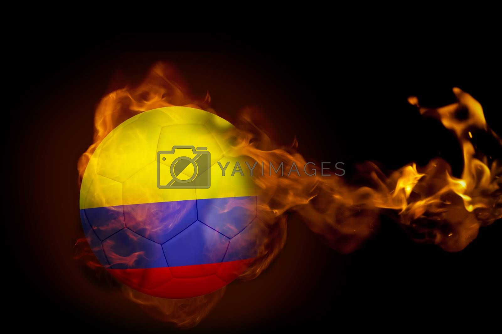 Fire surrounding colombia ball by Wavebreakmedia