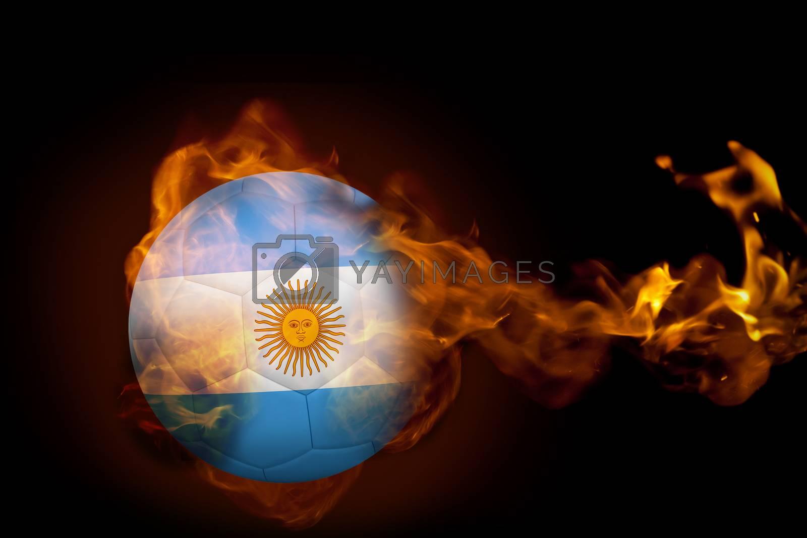 Fire surrounding argentina ball by Wavebreakmedia