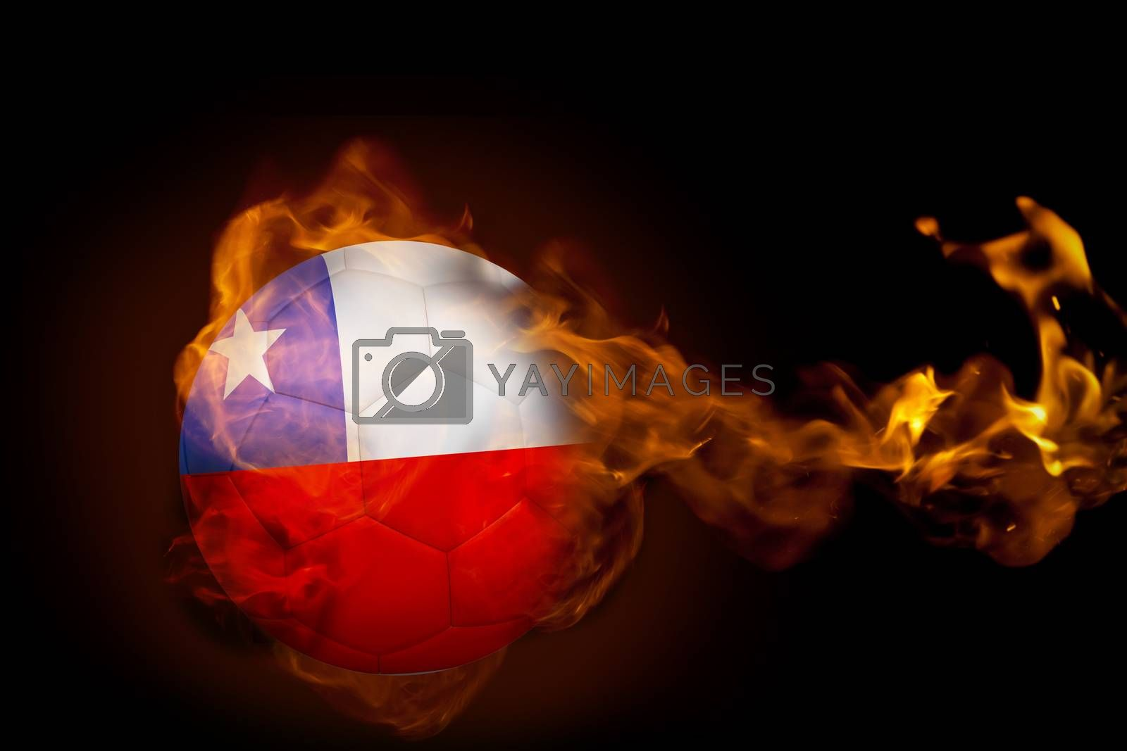 Fire surrounding chile ball by Wavebreakmedia