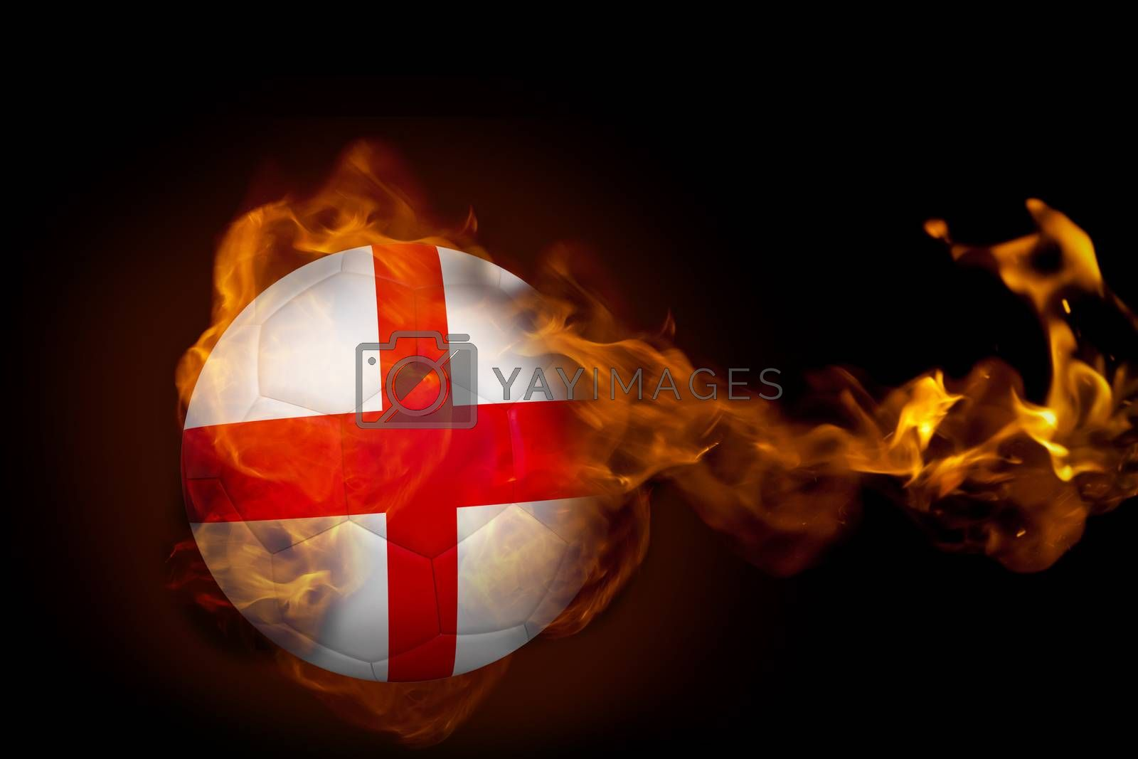 Fire surrounding england ball by Wavebreakmedia