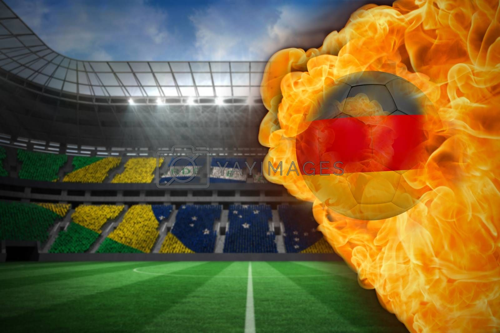 Fire surrounding germany flag football by Wavebreakmedia