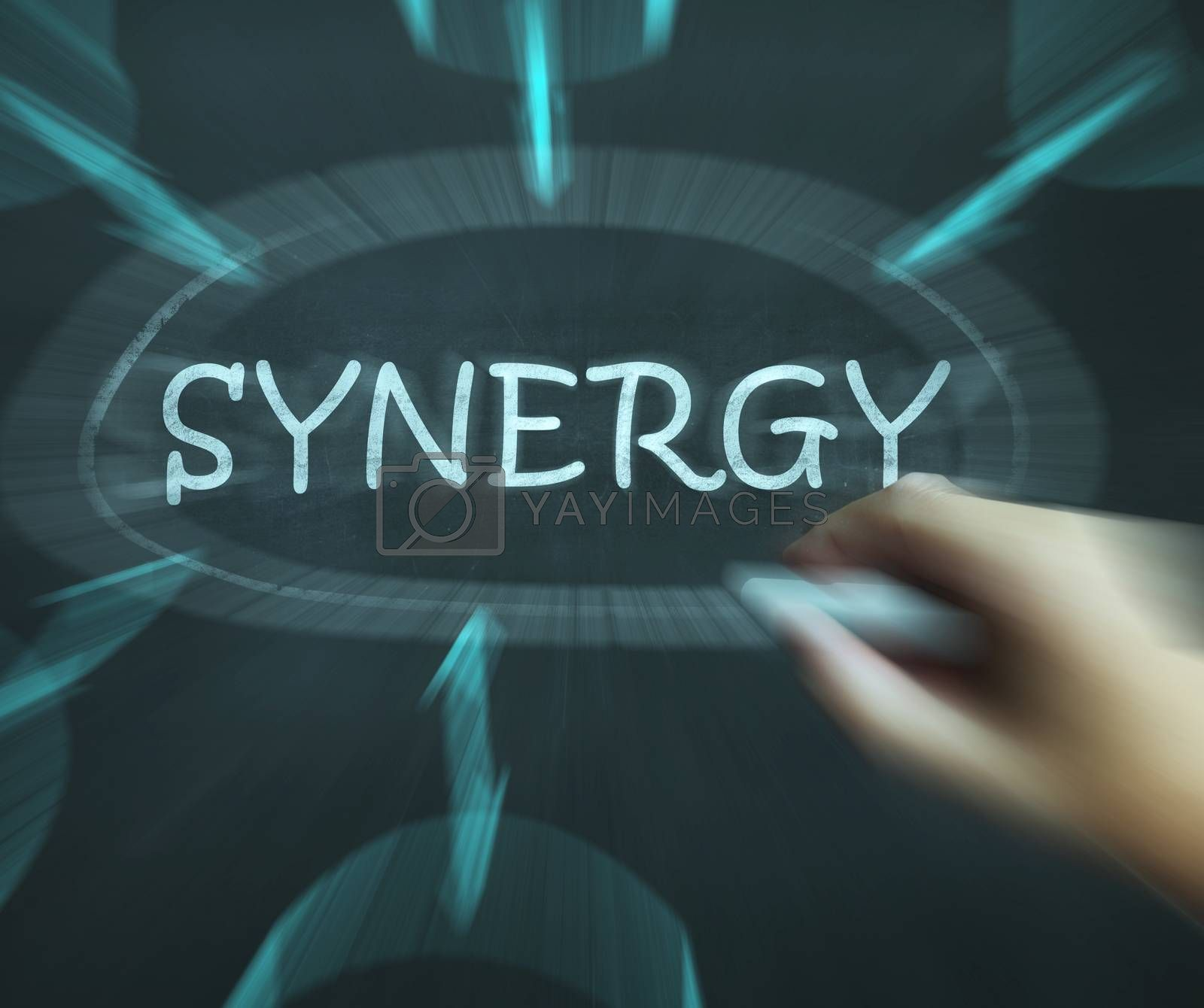 Synergy Diagram Means Joint Effort And Cooperation by stuartmiles
