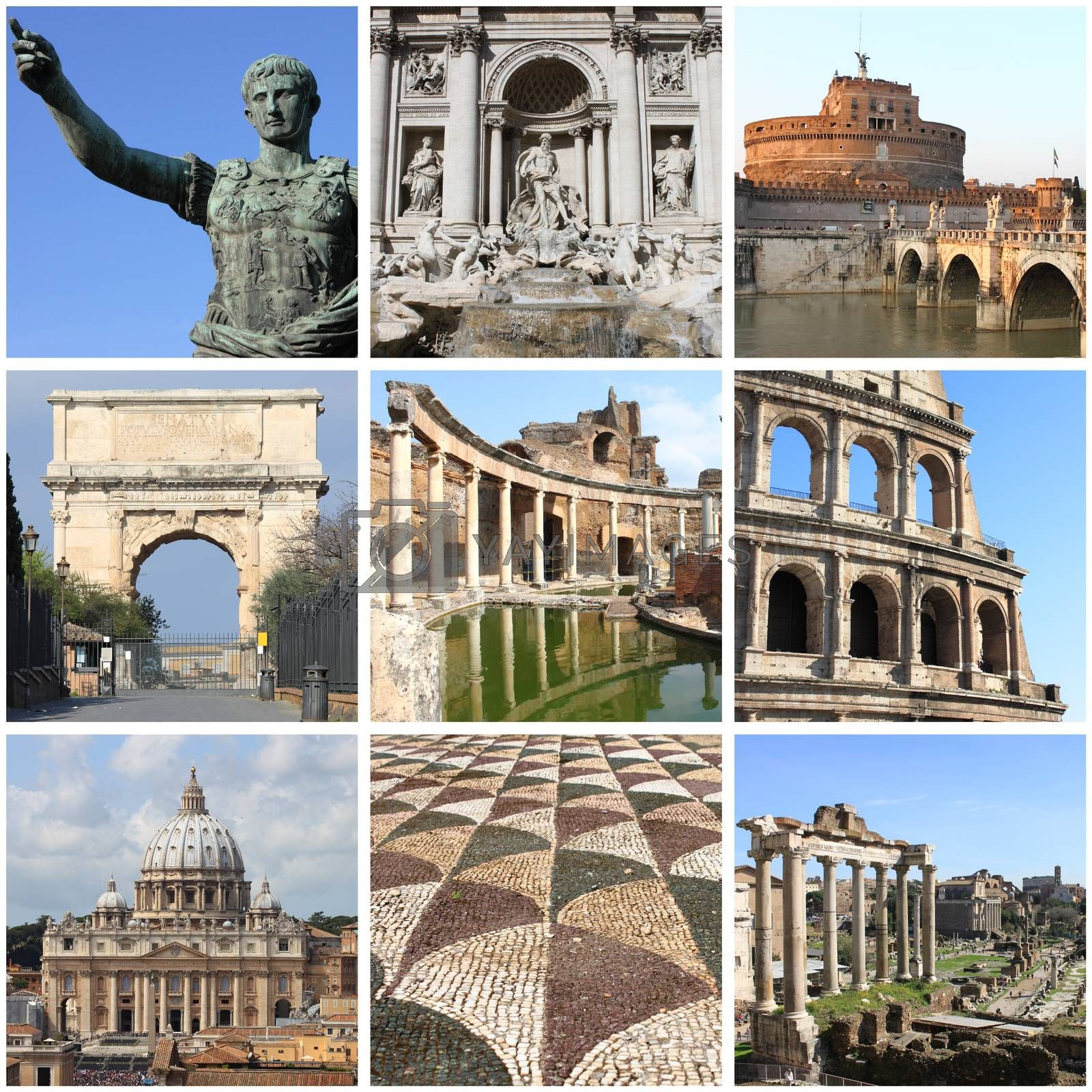 Rome landmarks collage by alessandro0770