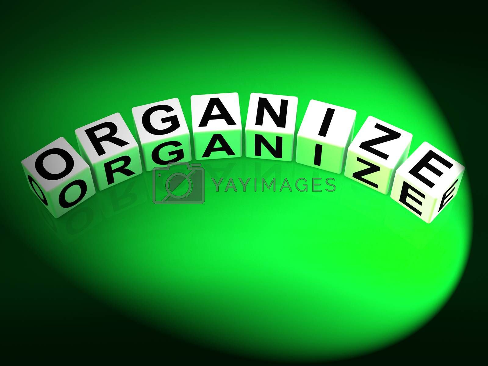 Organize Dice Represent Organization Management and Established  by stuartmiles