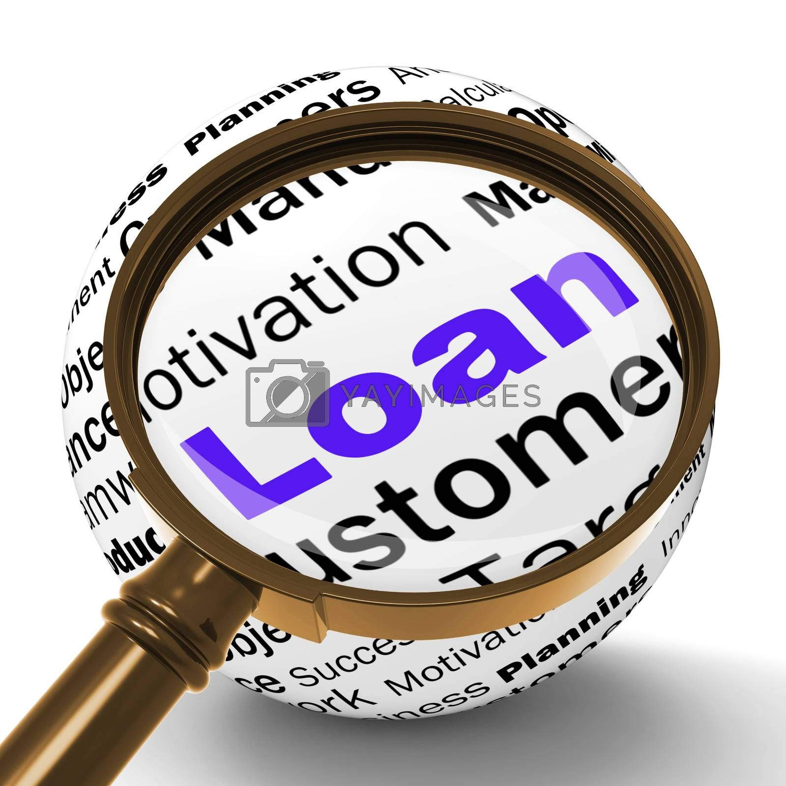Loan Magnifier Definition Means Bank Credit Or Funding by stuartmiles