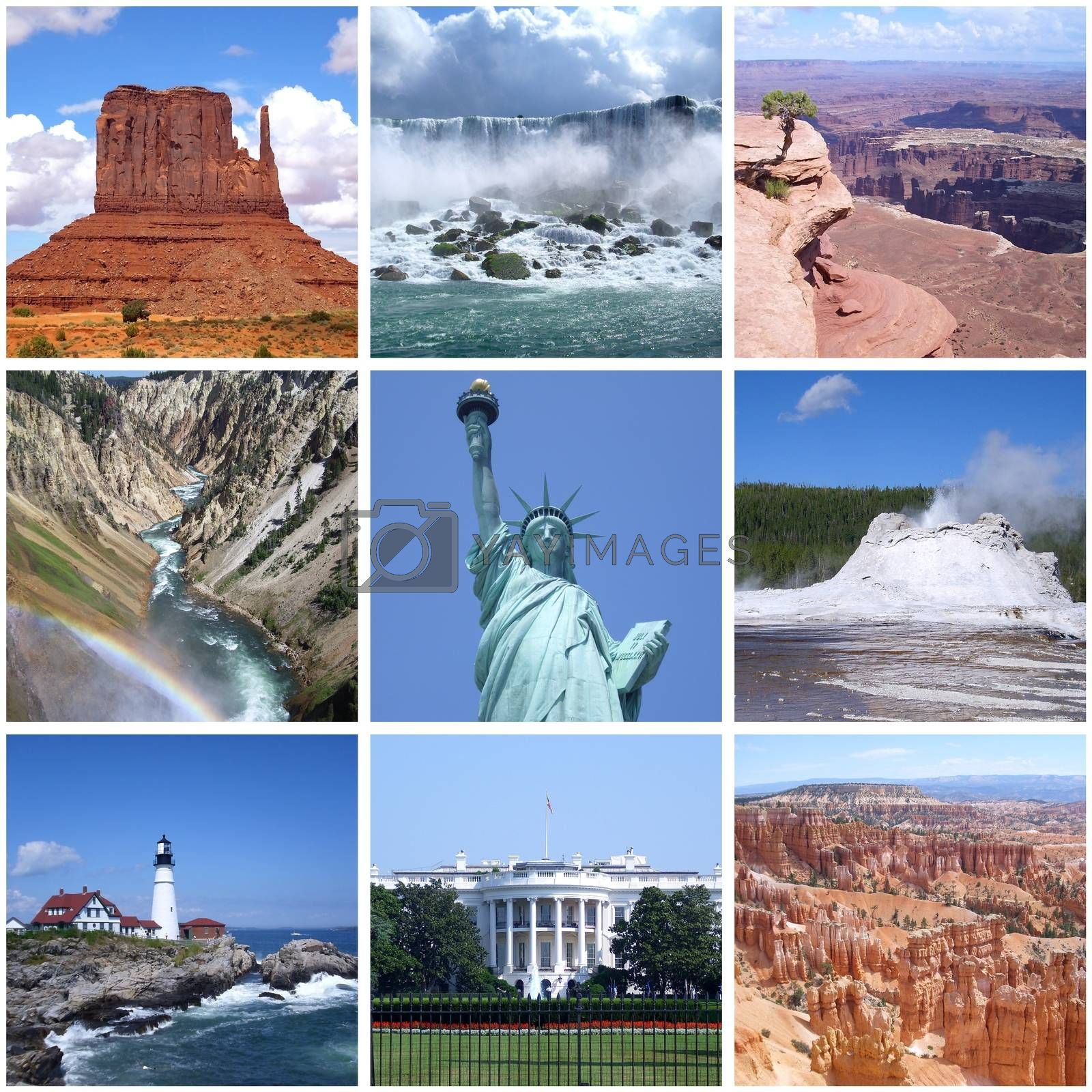 USA landmarks collage by alessandro0770