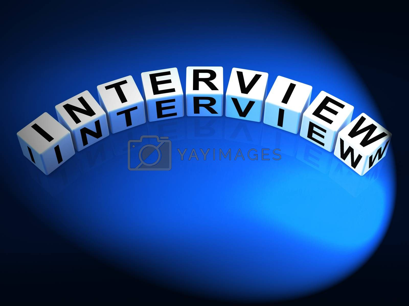 Interview Dice Mean Conversation or Dialogue When Interviewing by stuartmiles