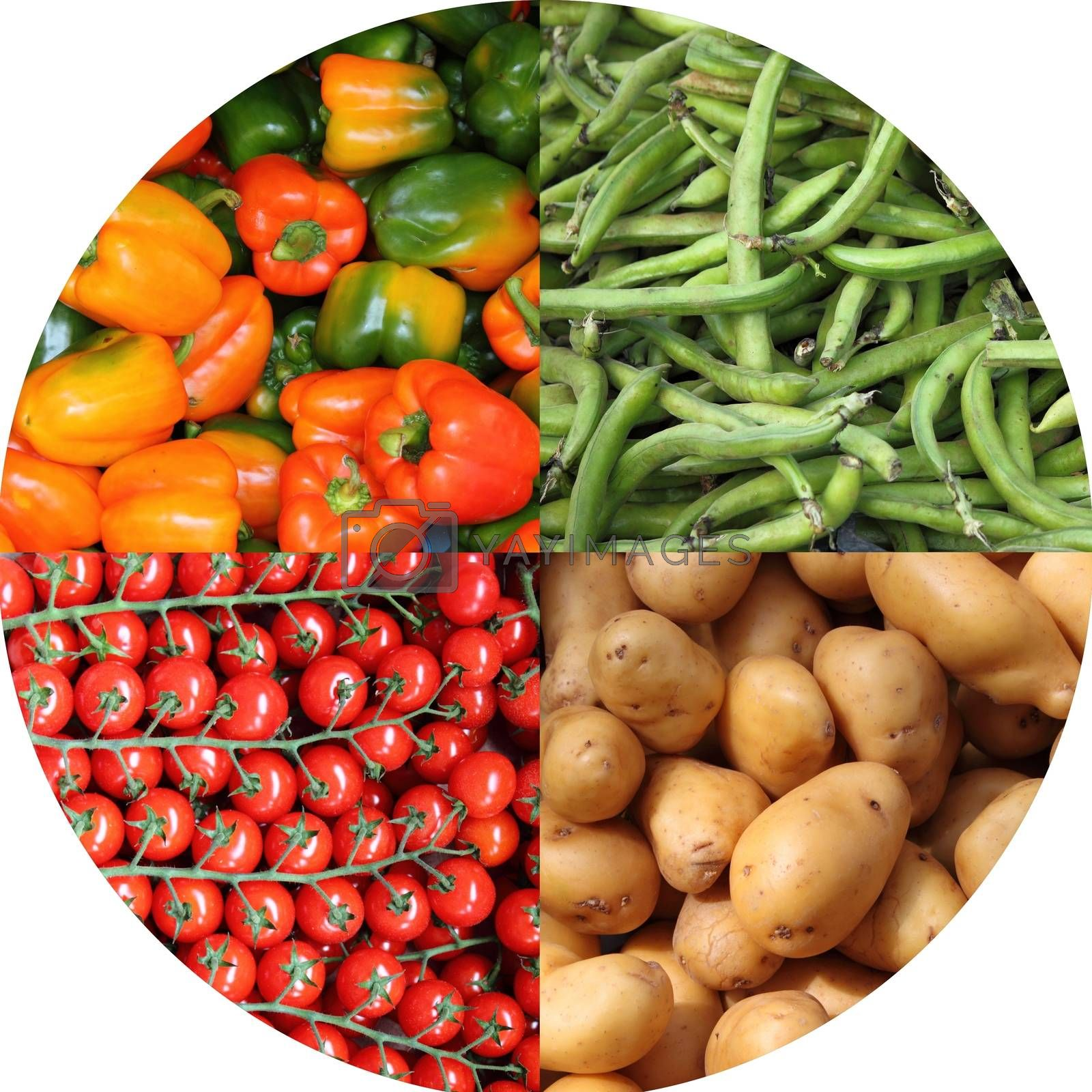 Fresh vegetables collage by alessandro0770